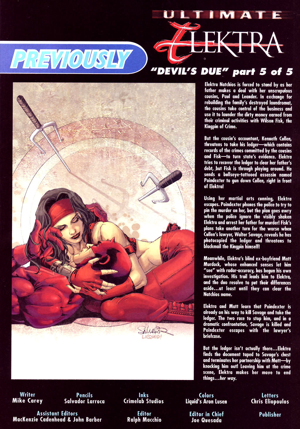 Read online Ultimate Elektra comic -  Issue #5 - 3
