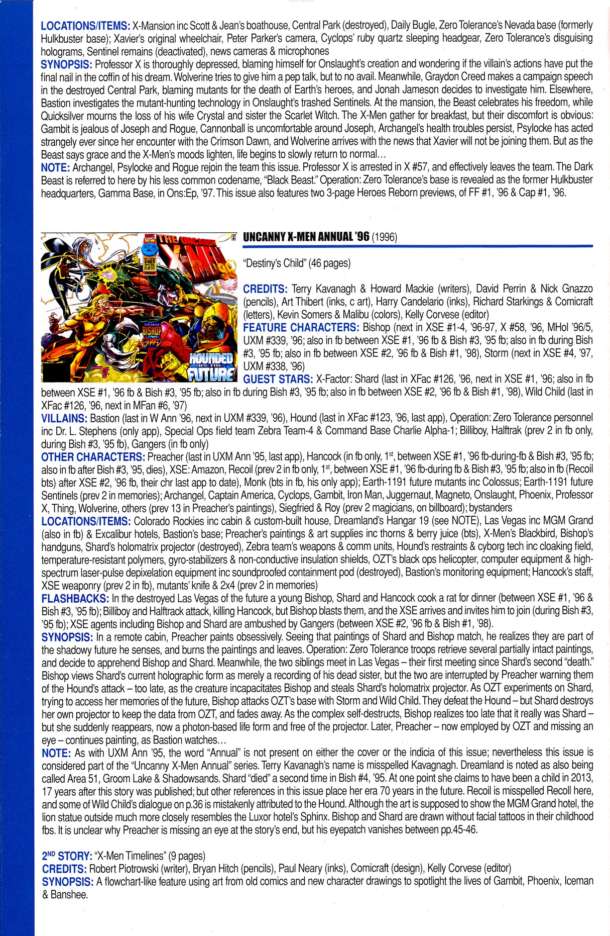 Read online Official Index to the Marvel Universe comic -  Issue #8 - 66