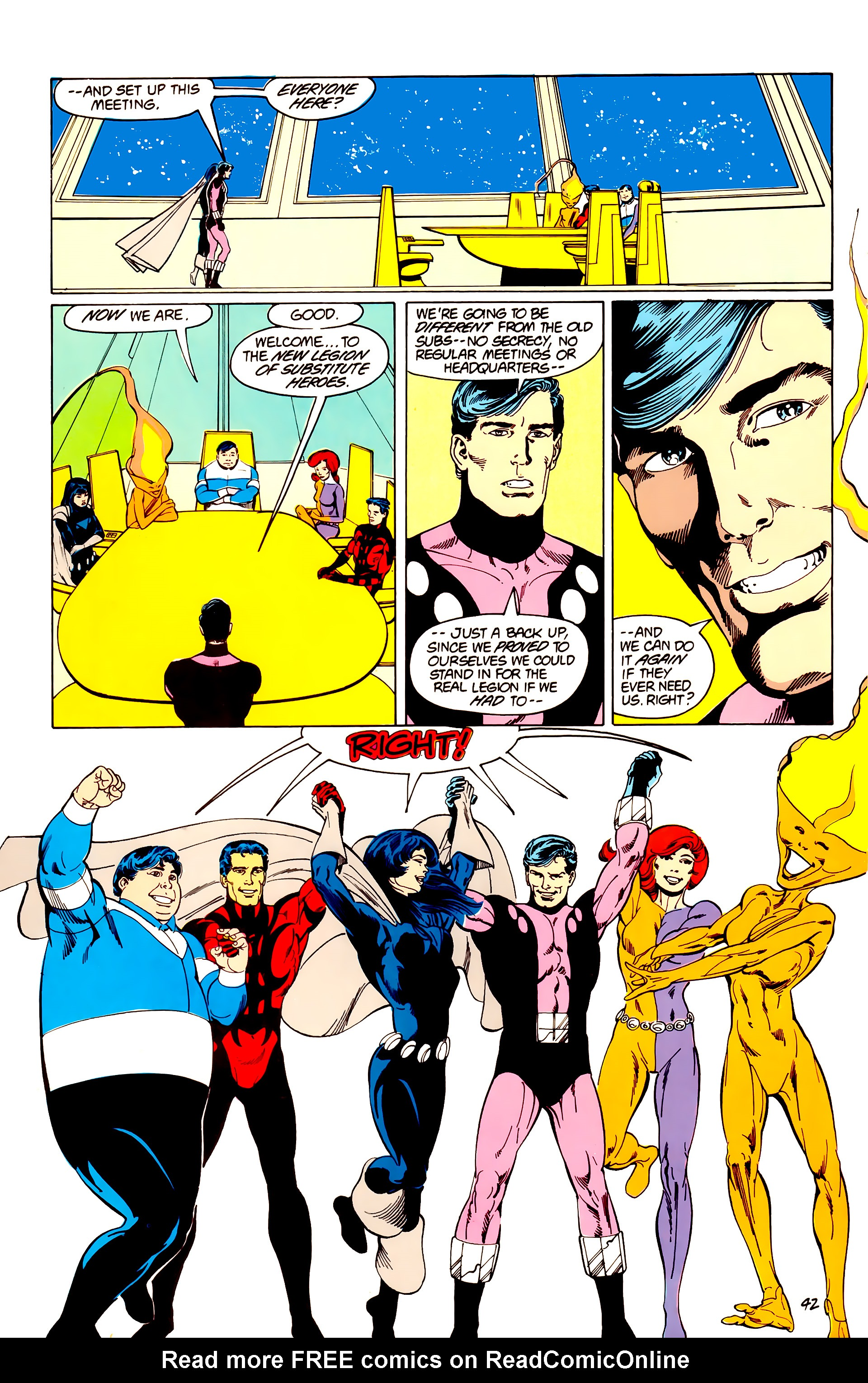 Legion of Super-Heroes (1984) _Annual_3 Page 42