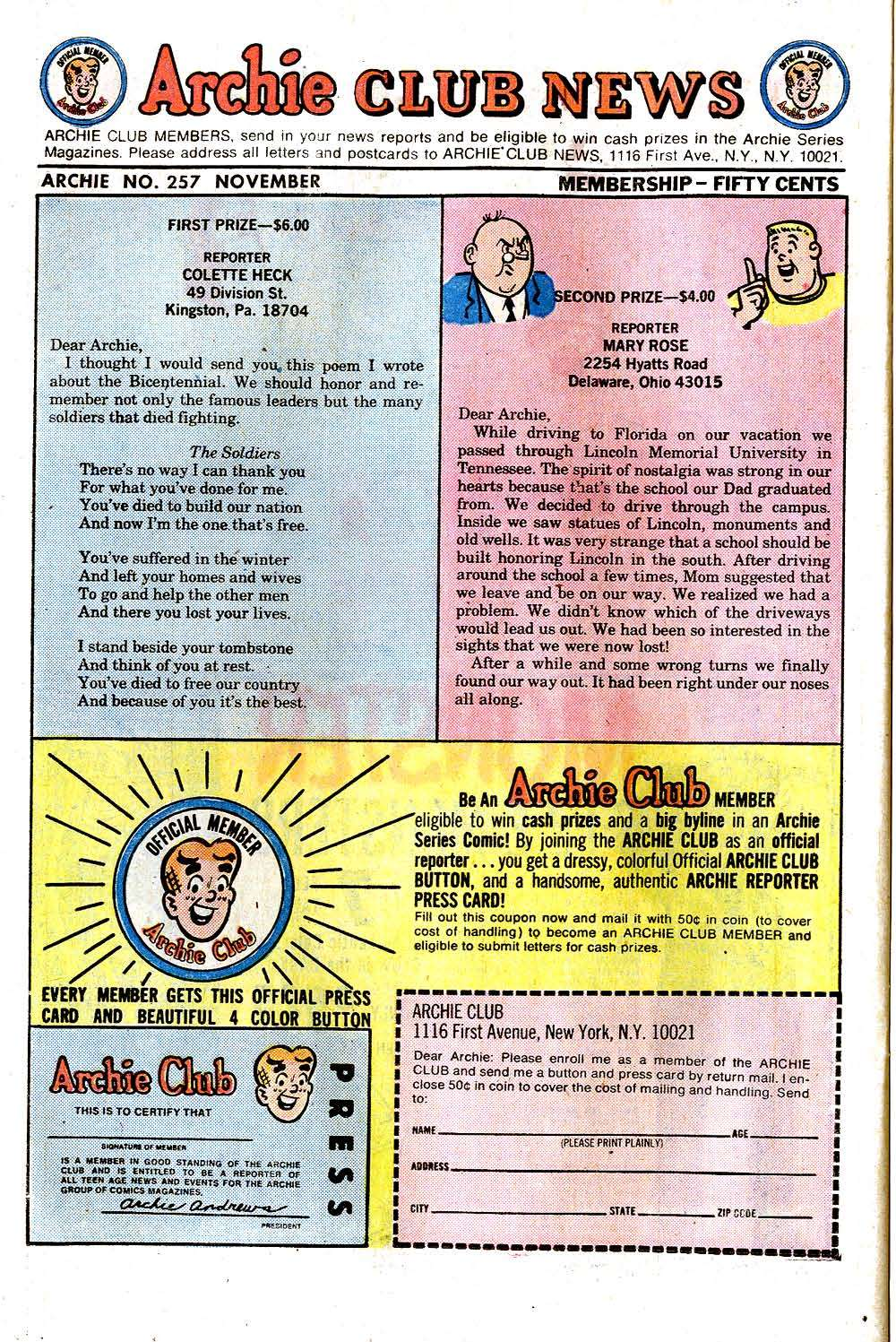 Read online Archie (1960) comic -  Issue #257 - 26