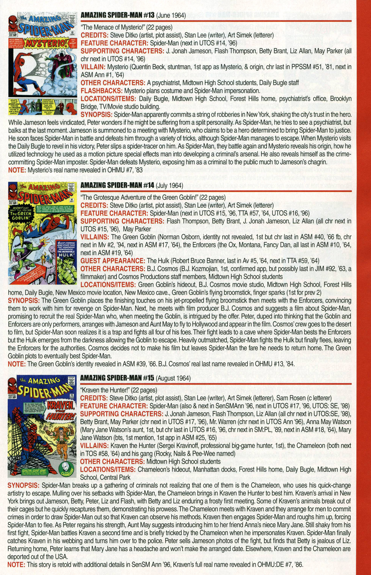 Read online Official Index to the Marvel Universe comic -  Issue #1 - 9