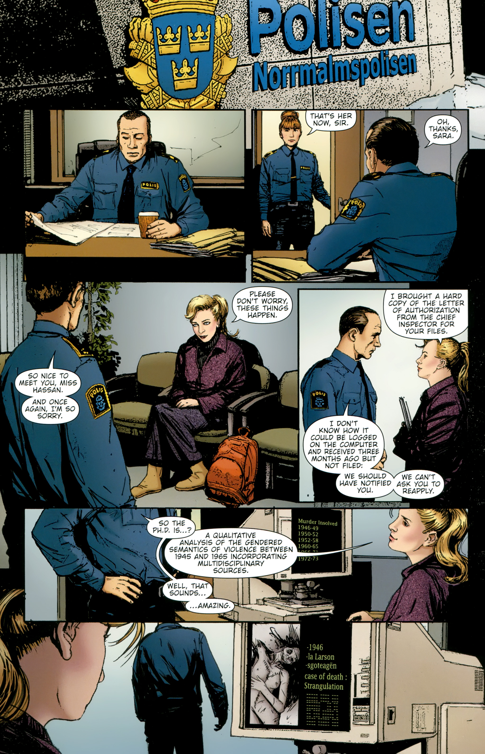Read online The Girl With the Dragon Tattoo comic -  Issue # TPB 2 - 52