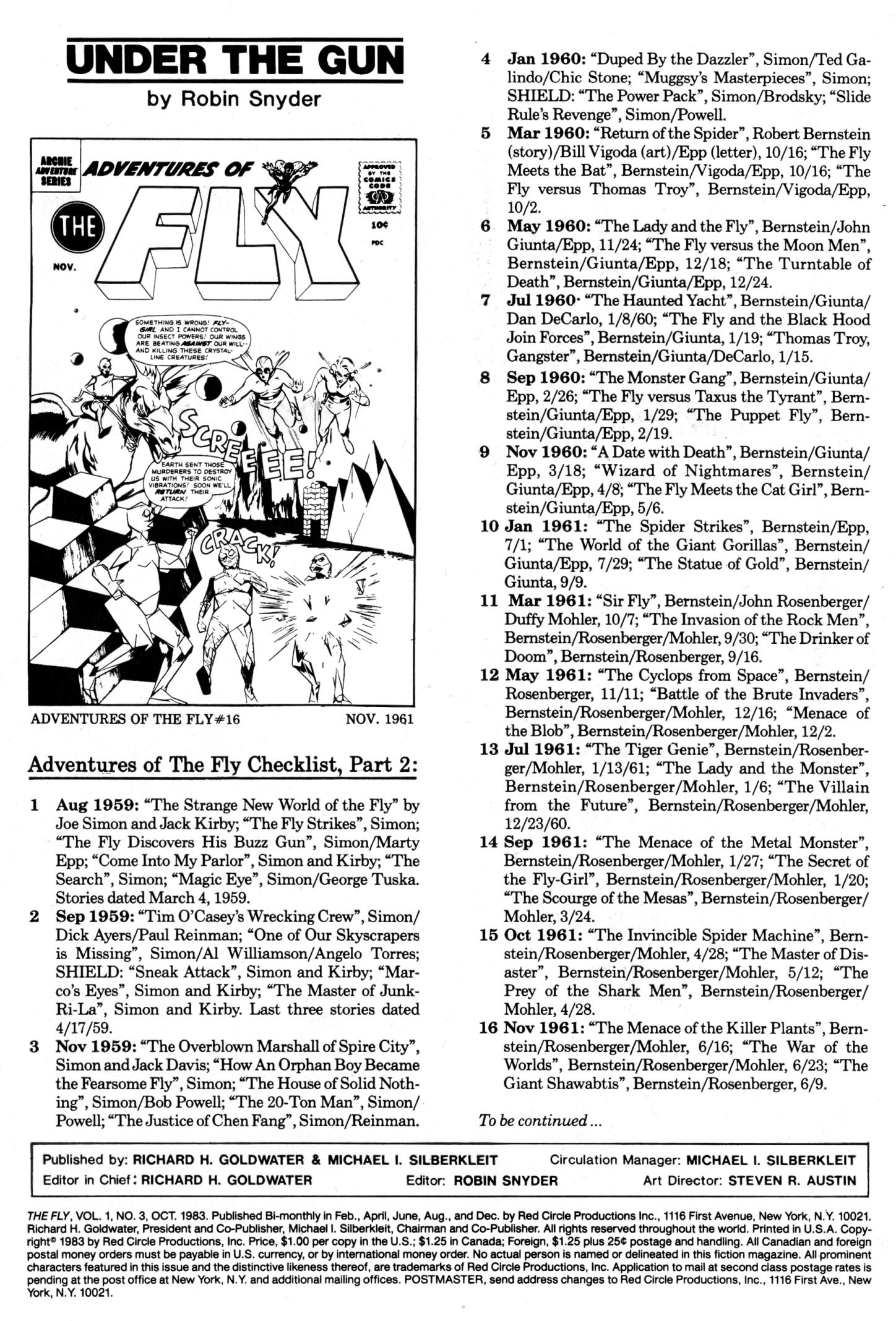 Read online The Fly (1983) comic -  Issue #3 - 2