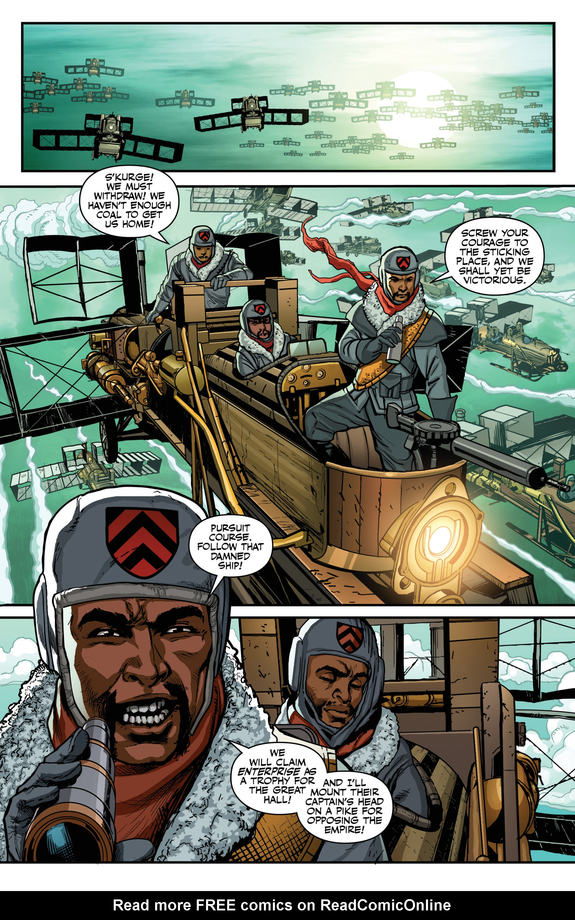 Read online Airship Enterprise: The Infernal Machine comic -  Issue #4 - 14