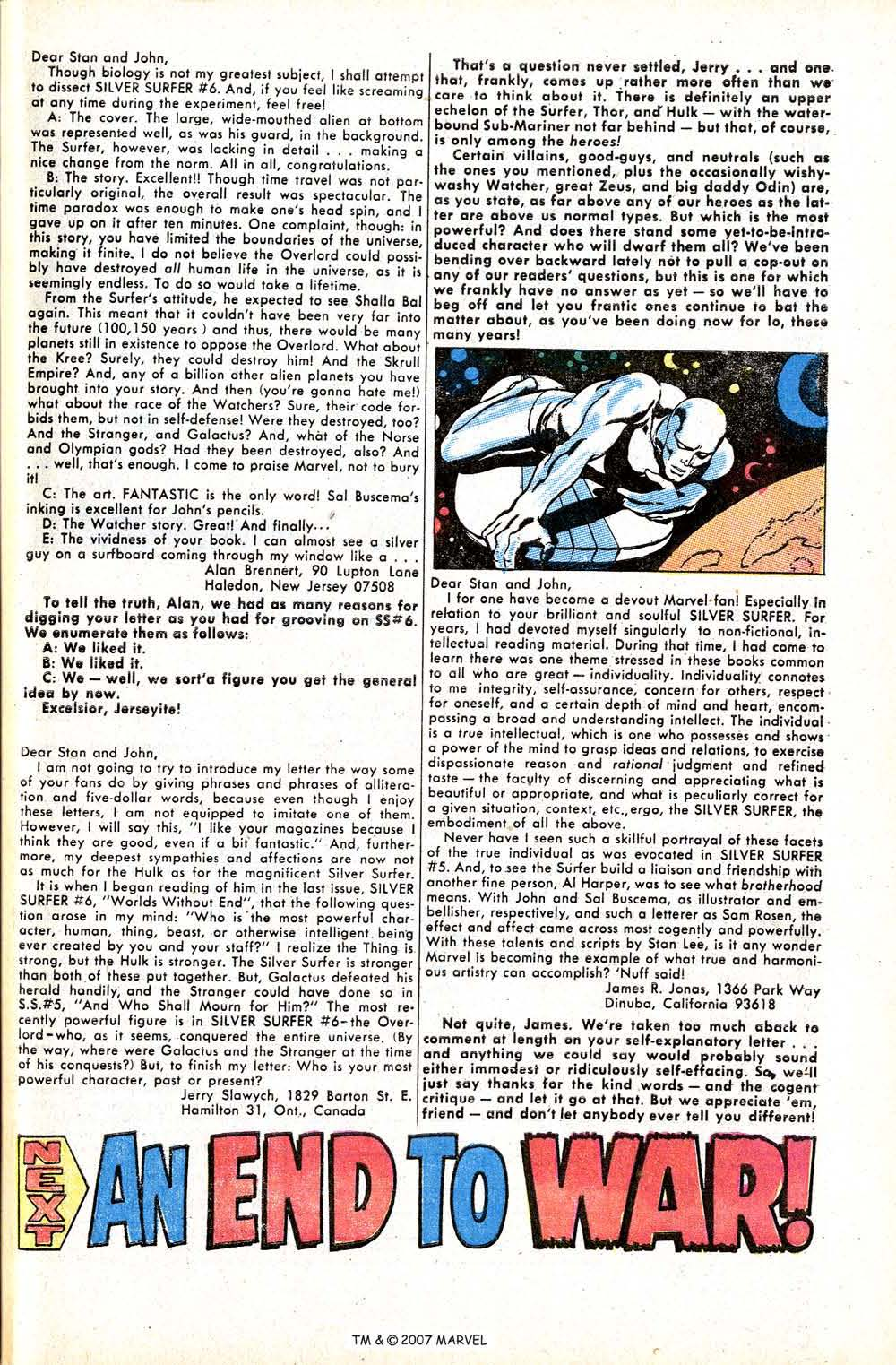 Read online Silver Surfer (1968) comic -  Issue #8 - 33