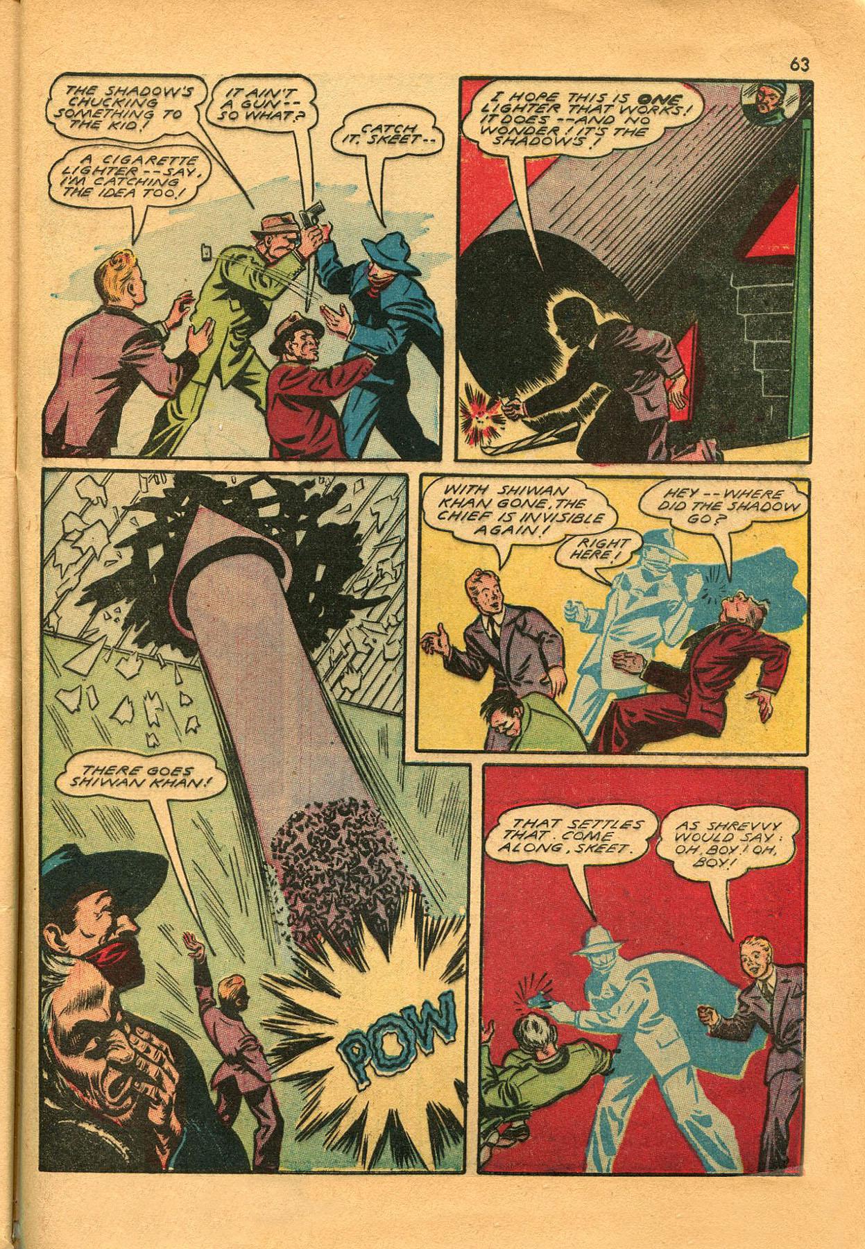 Read online Shadow Comics comic -  Issue #23 - 63