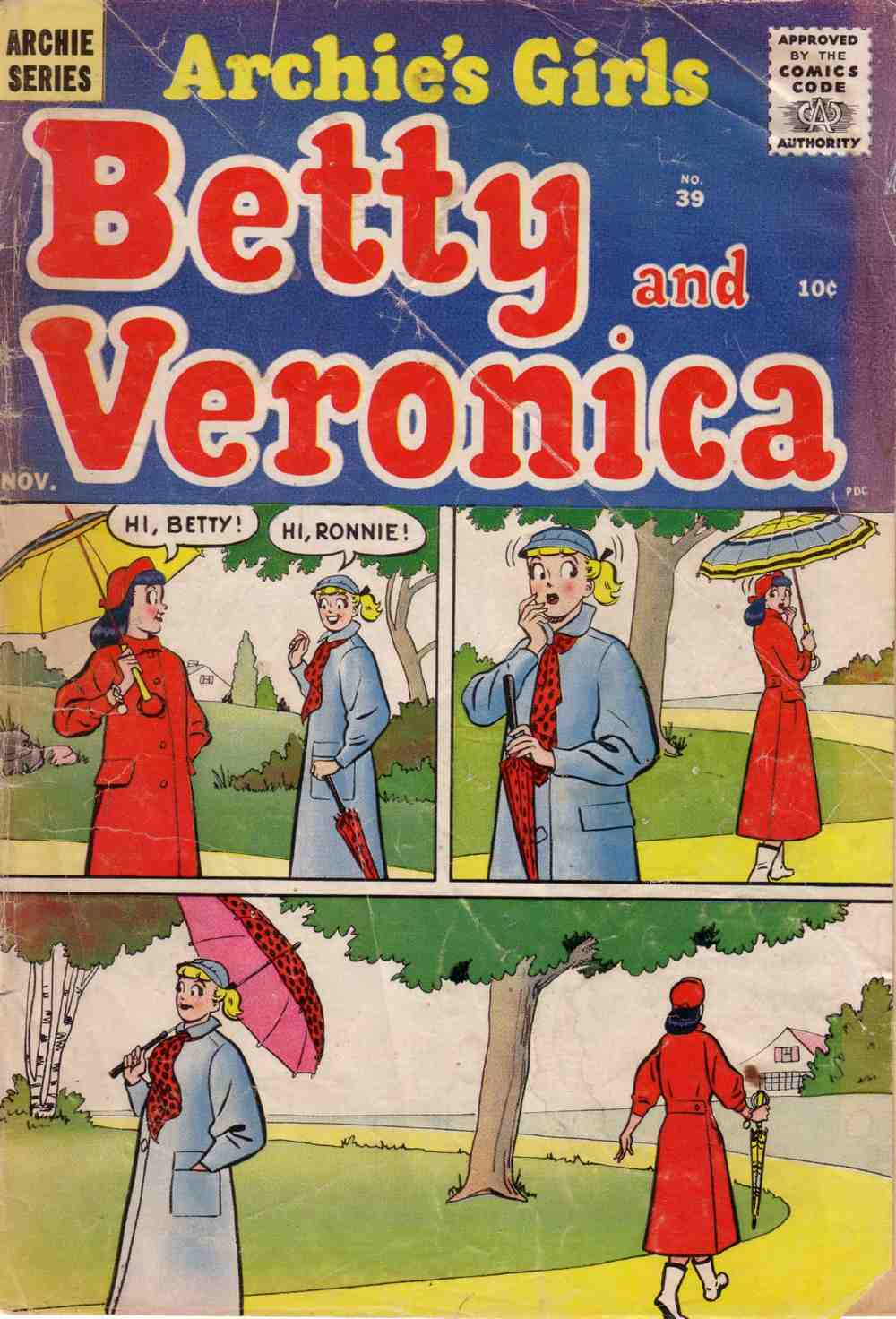 Read online Archie's Girls Betty and Veronica comic -  Issue #39 - 1