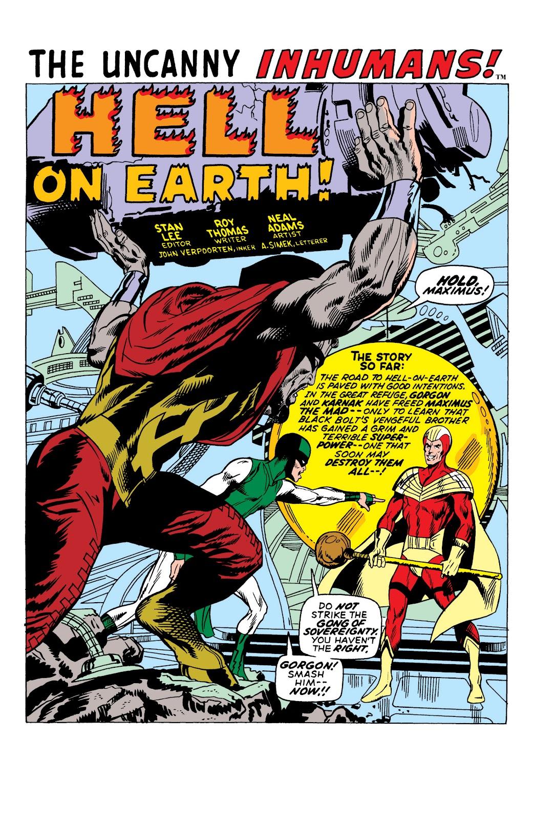 Read online Marvel Masterworks: The Inhumans comic -  Issue # TPB 1 (Part 2) - 25