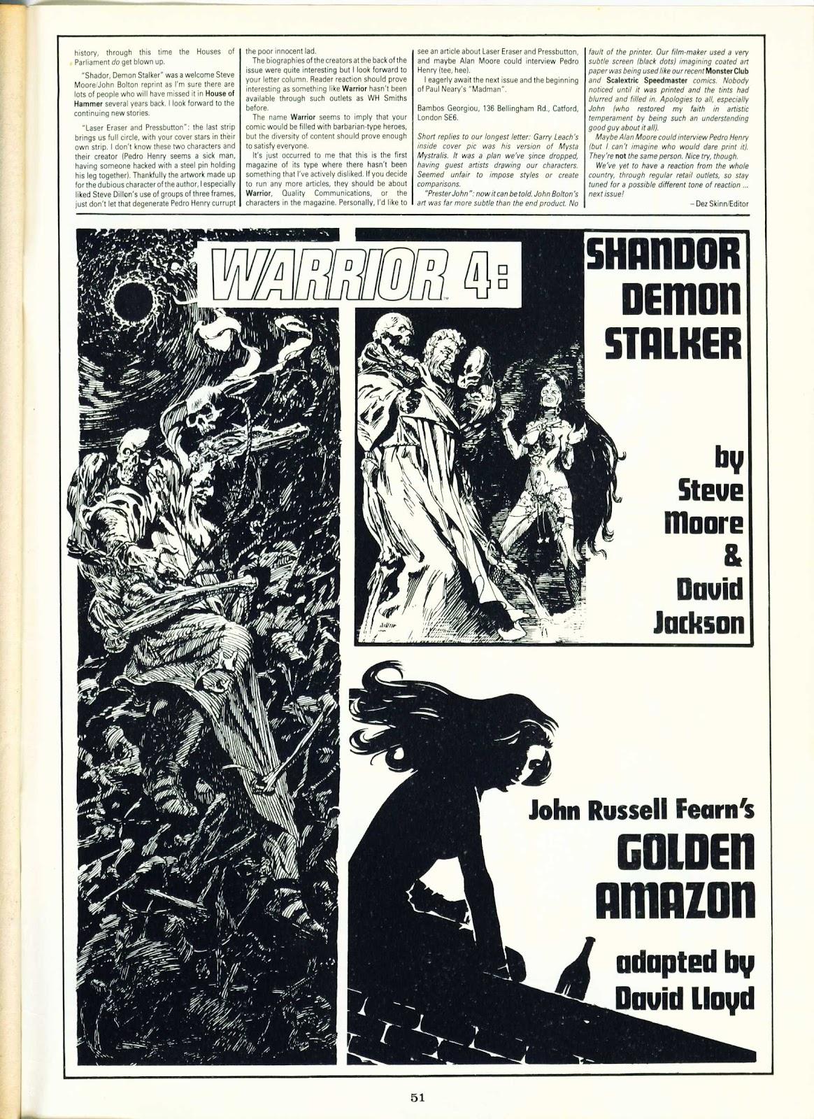 Warrior Issue #3 #4 - English 50