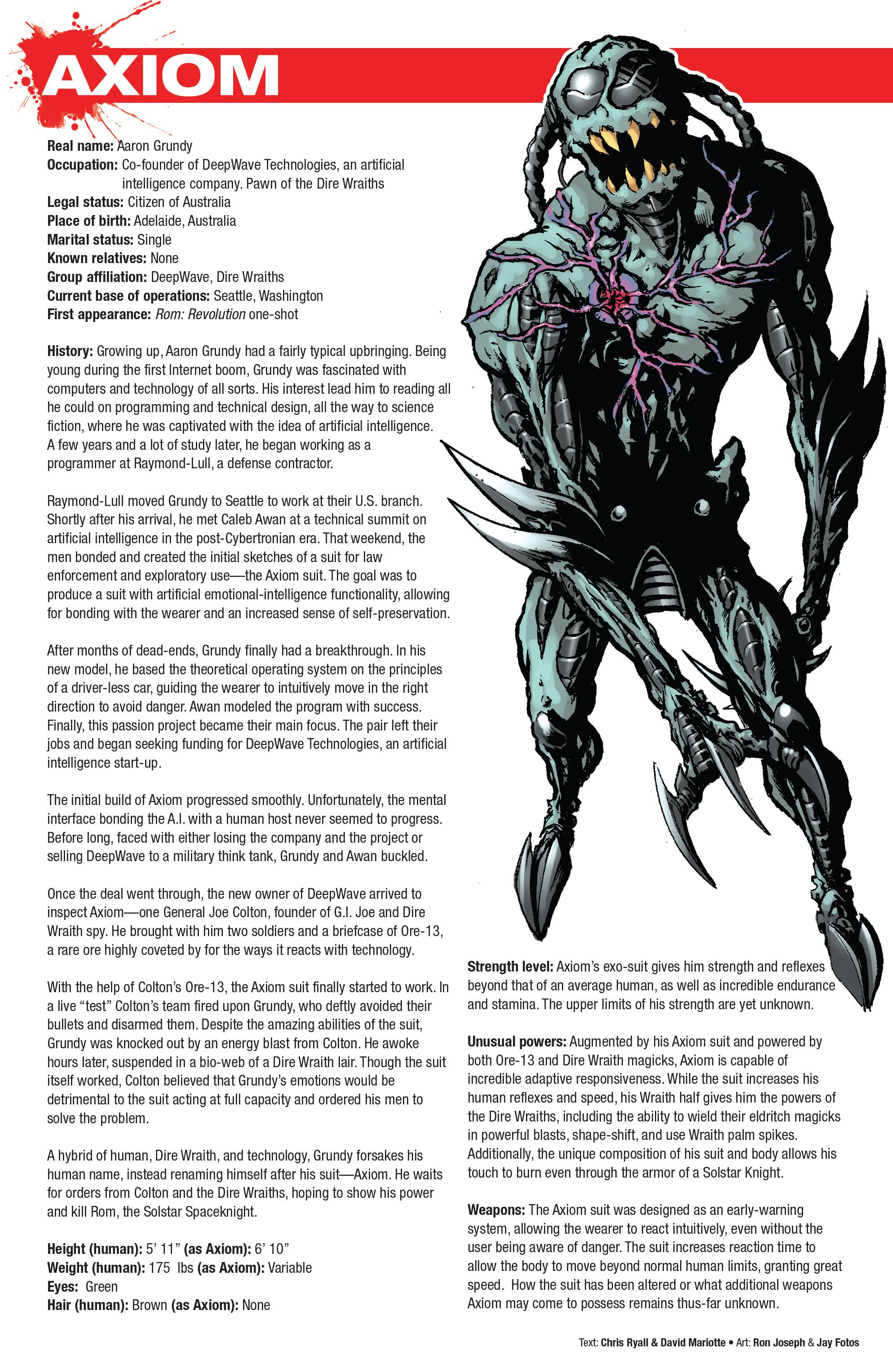 Read online Hasbro Heroes Sourcebook comic -  Issue #1 - 14