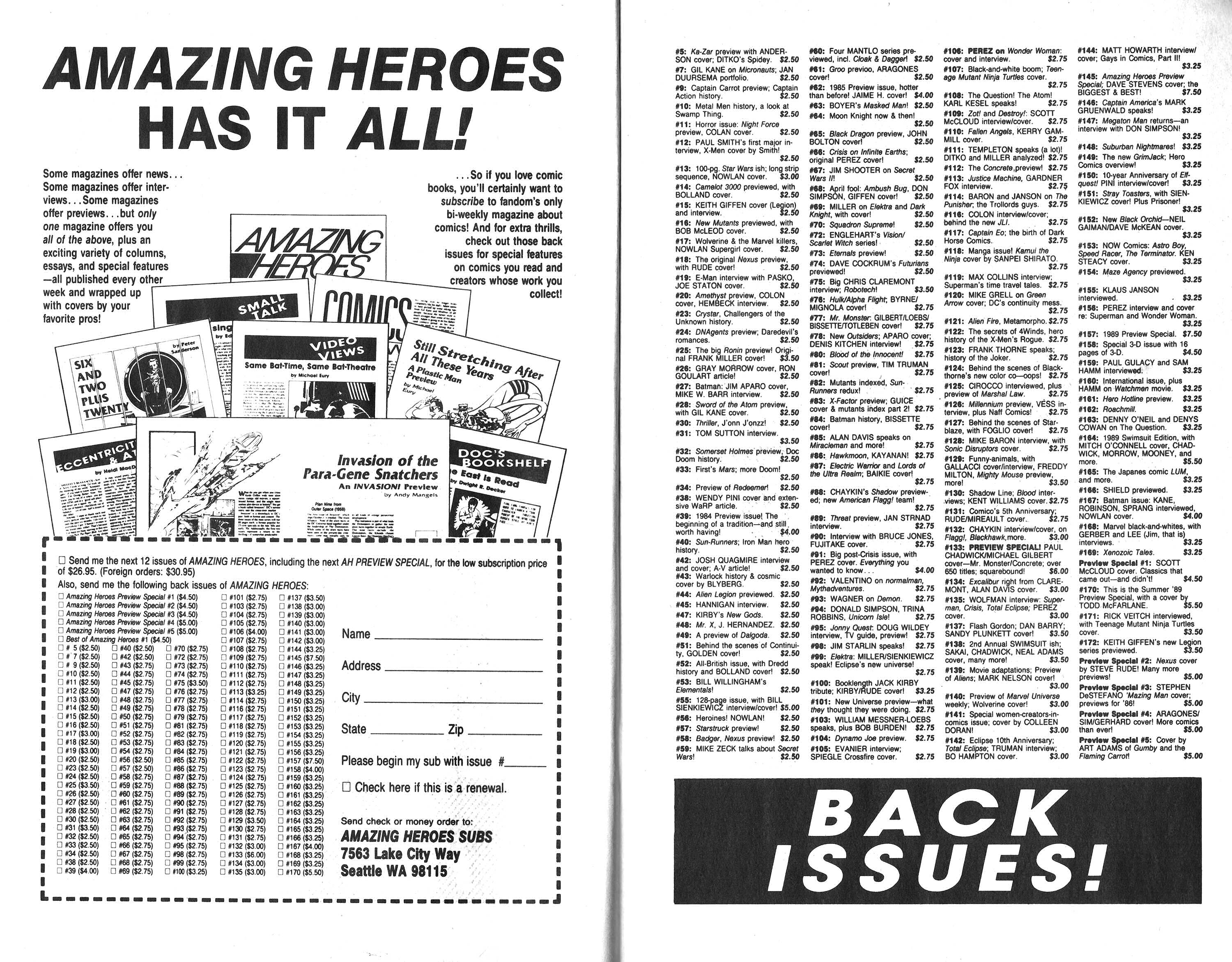 Read online Amazing Heroes comic -  Issue #168 - 13