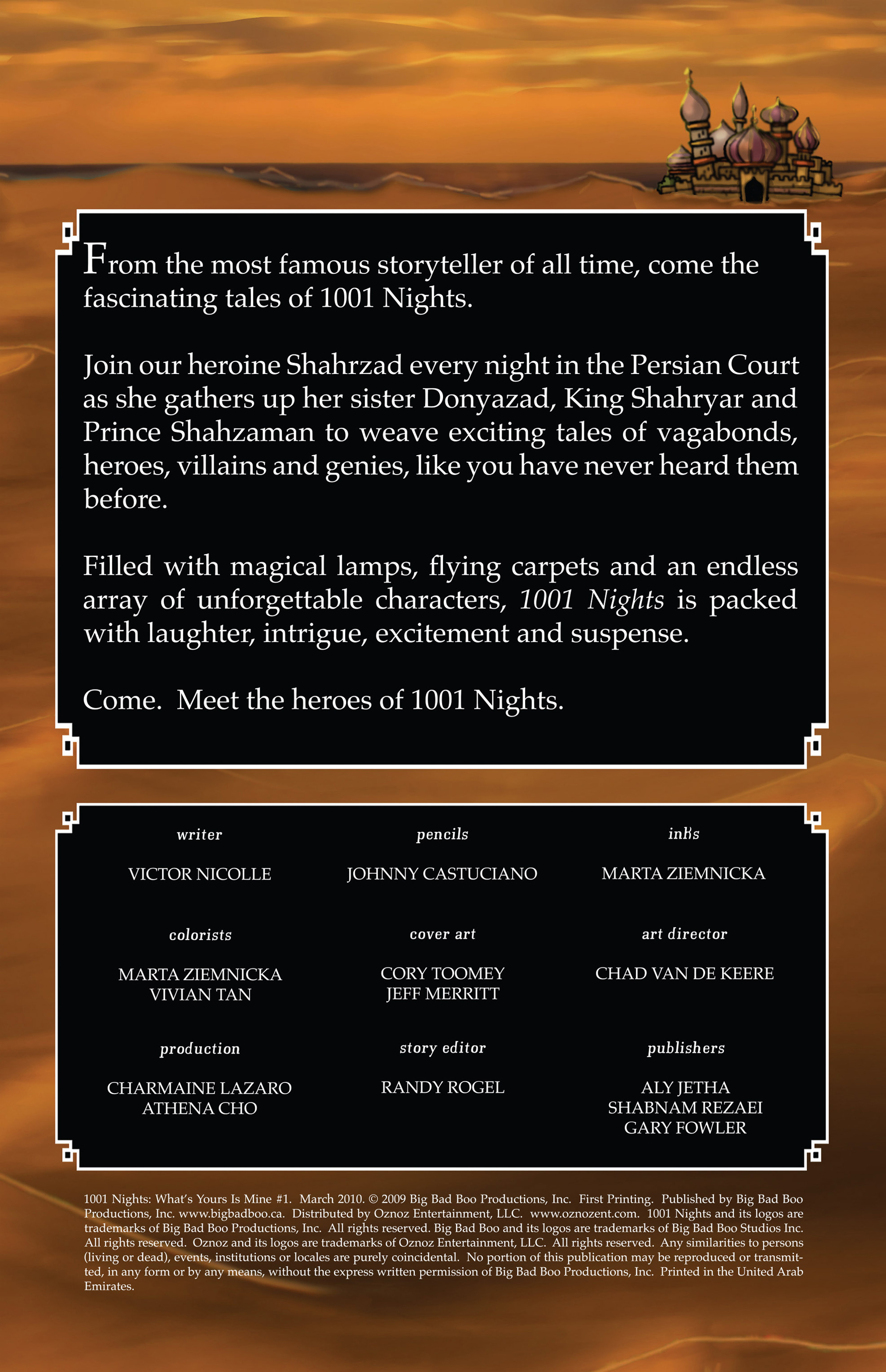 Read online 1001 Nights comic -  Issue #1 - 2