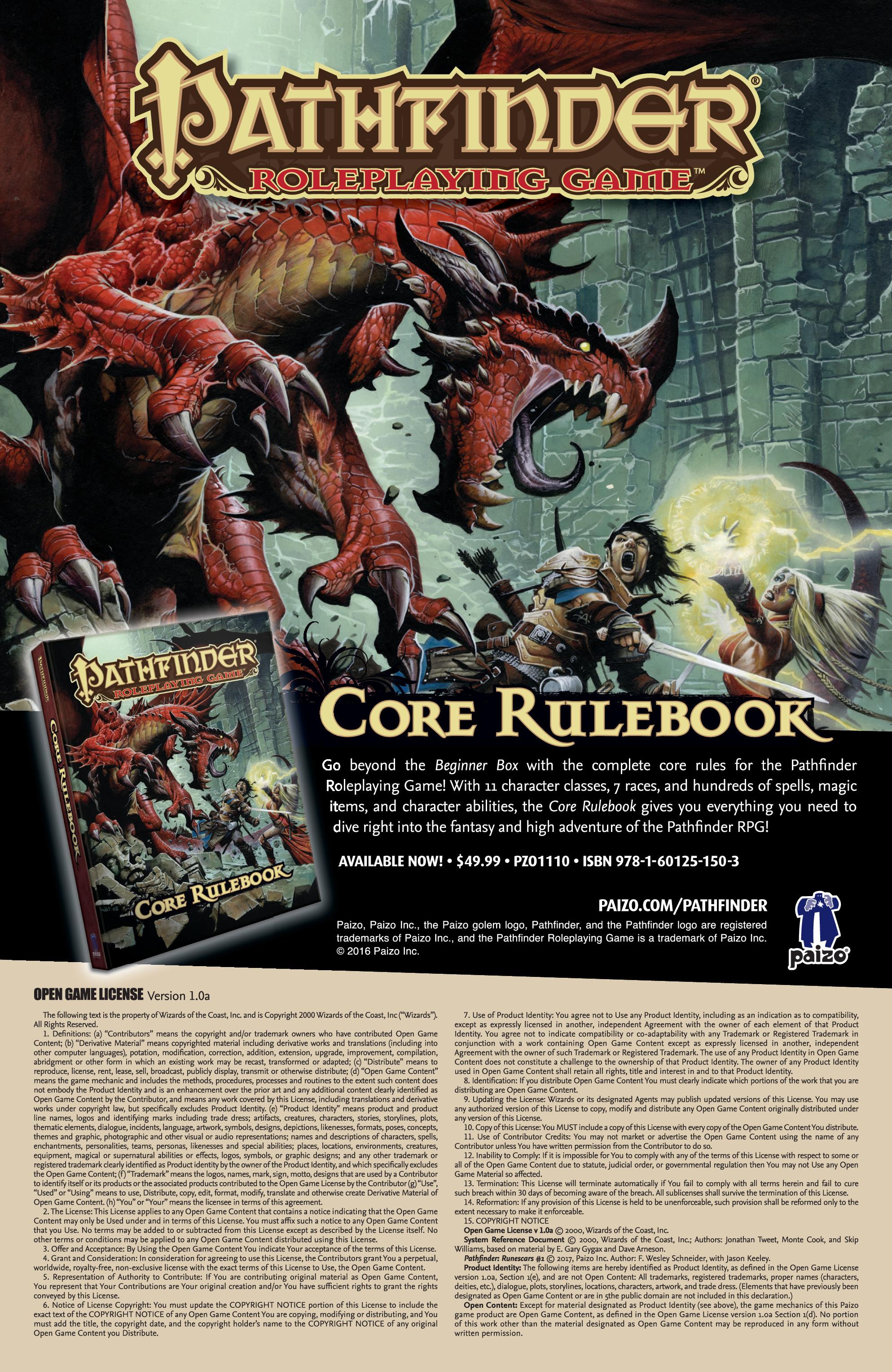 Read online Pathfinder: Runescars comic -  Issue #1 - 27