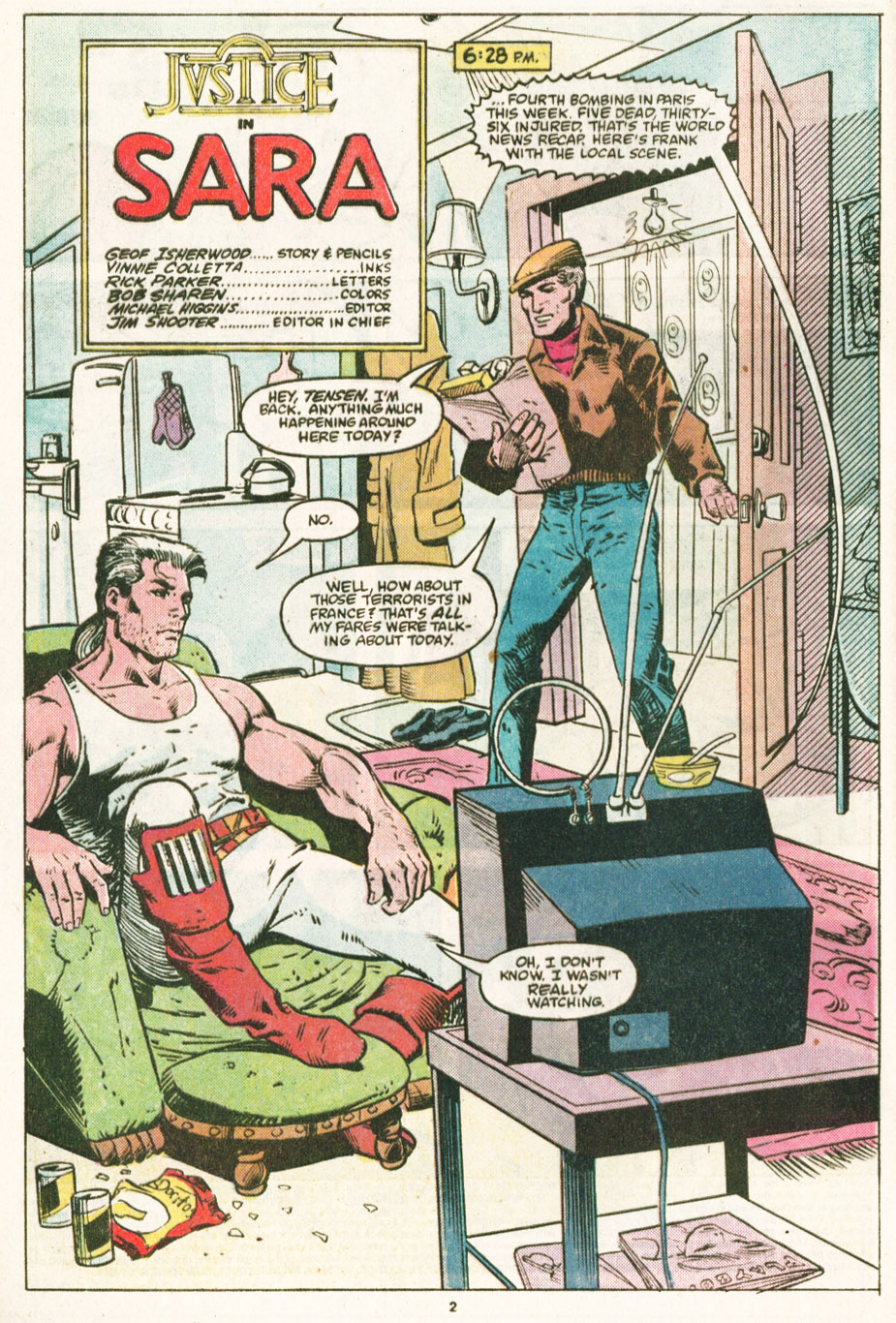 Read online Justice (1986) comic -  Issue #6 - 3