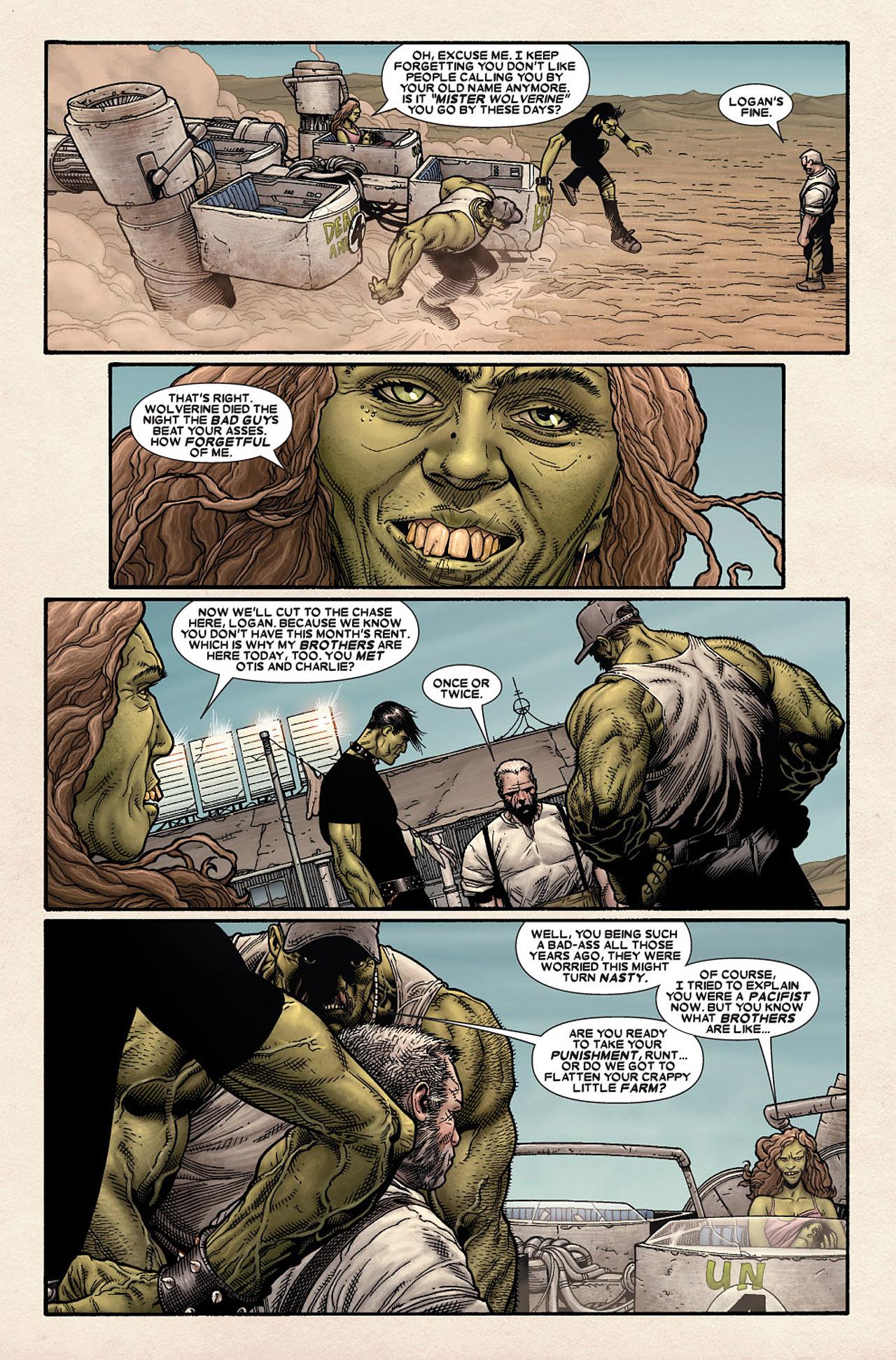 Read online Wolverine: Old Man Logan comic -  Issue # Full - 13