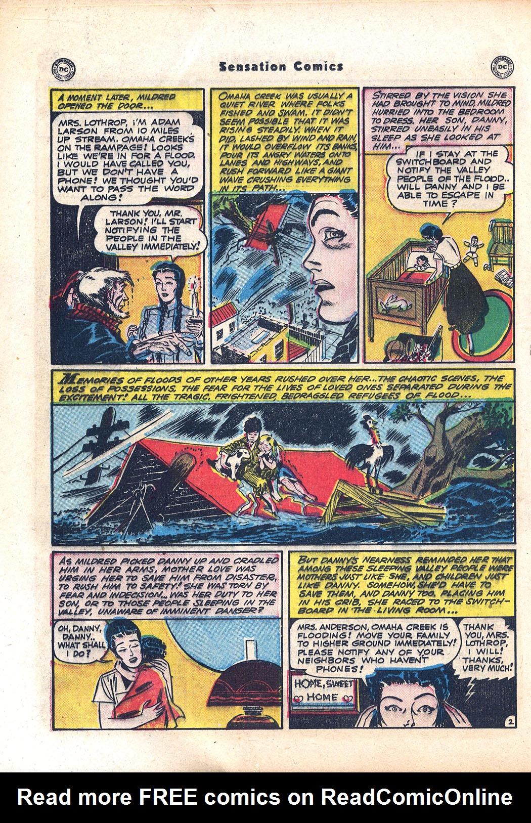 Read online Sensation (Mystery) Comics comic -  Issue #94 - 18