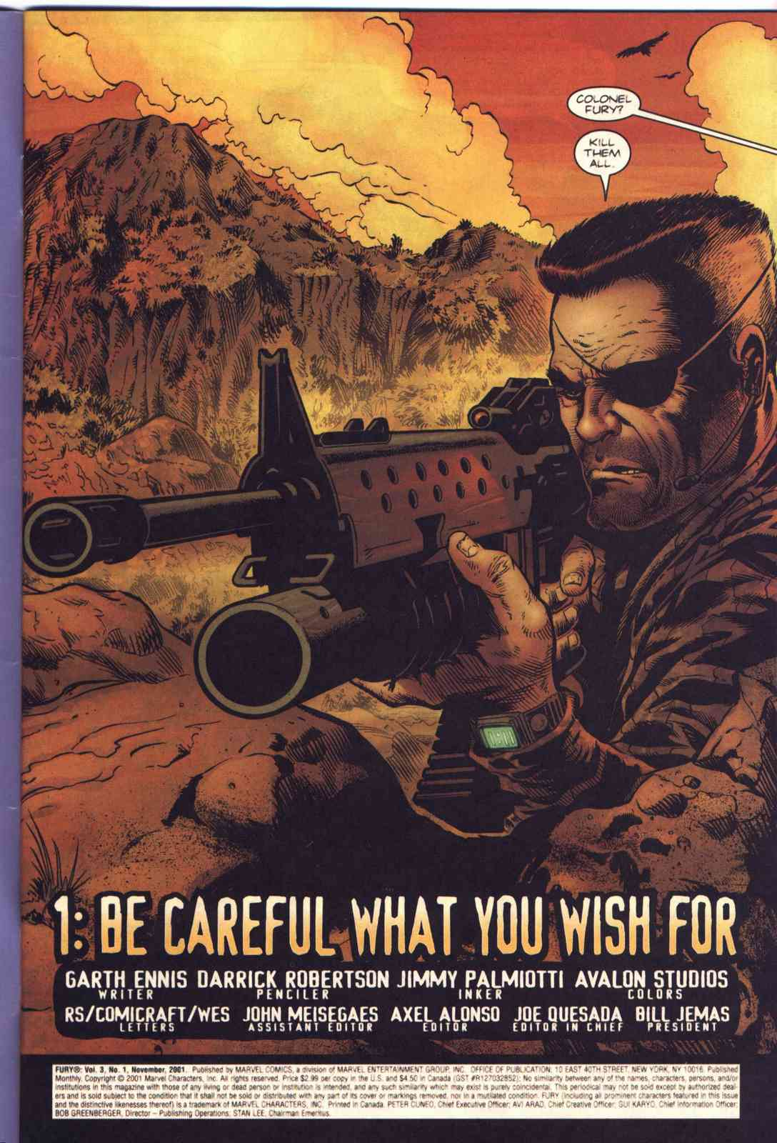 Read online Fury comic -  Issue #1 - 2