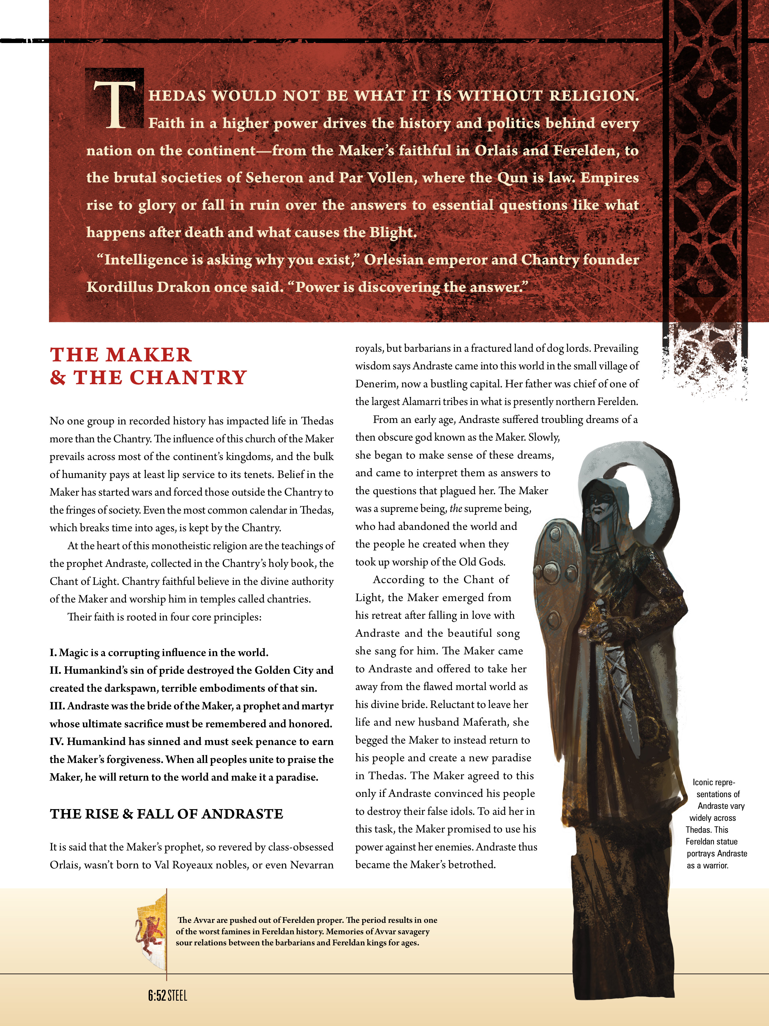 Read online Dragon Age: The World of Thedas comic -  Issue # TPB 1 - 91