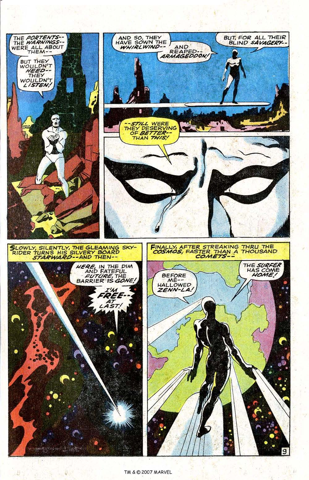 Read online Silver Surfer (1968) comic -  Issue #6 - 11