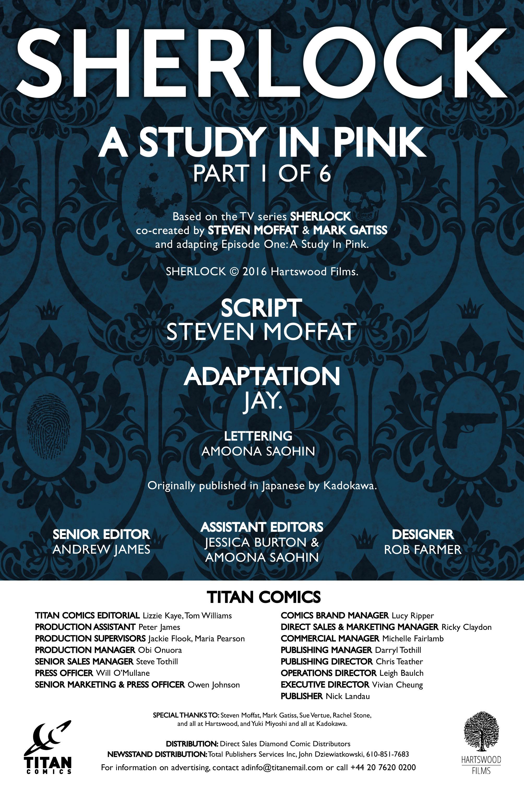 Read online Sherlock: A Study In Pink comic -  Issue #1 - 6