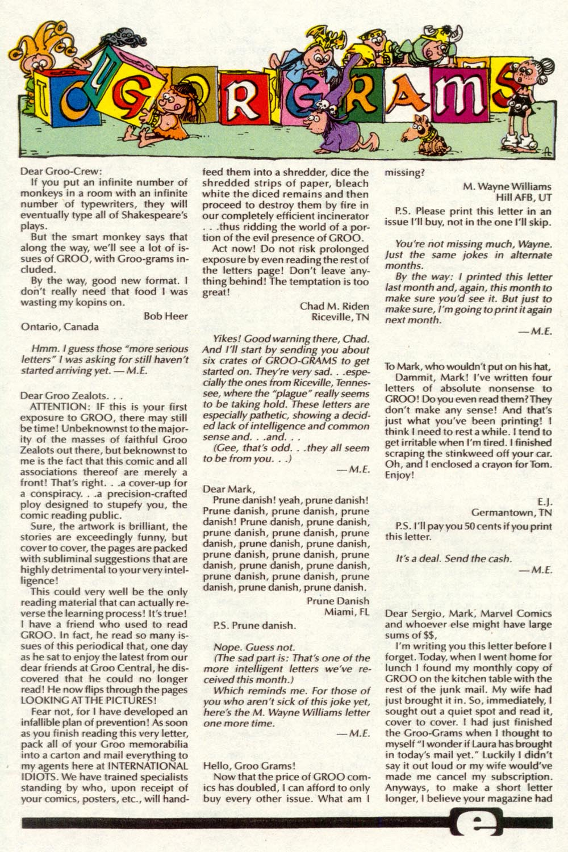 Read online Sergio Aragonés Groo the Wanderer comic -  Issue #92 - 24