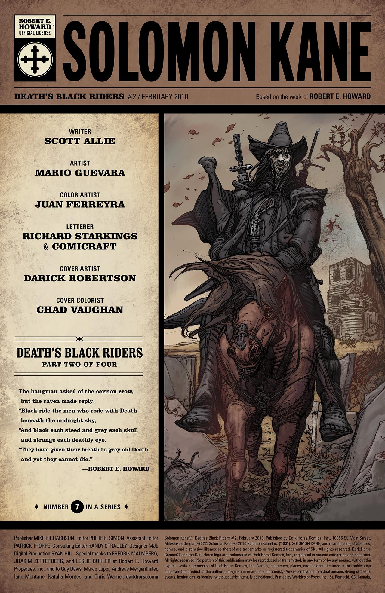 Read online Solomon Kane: Death's Black Riders comic -  Issue #2 - 2