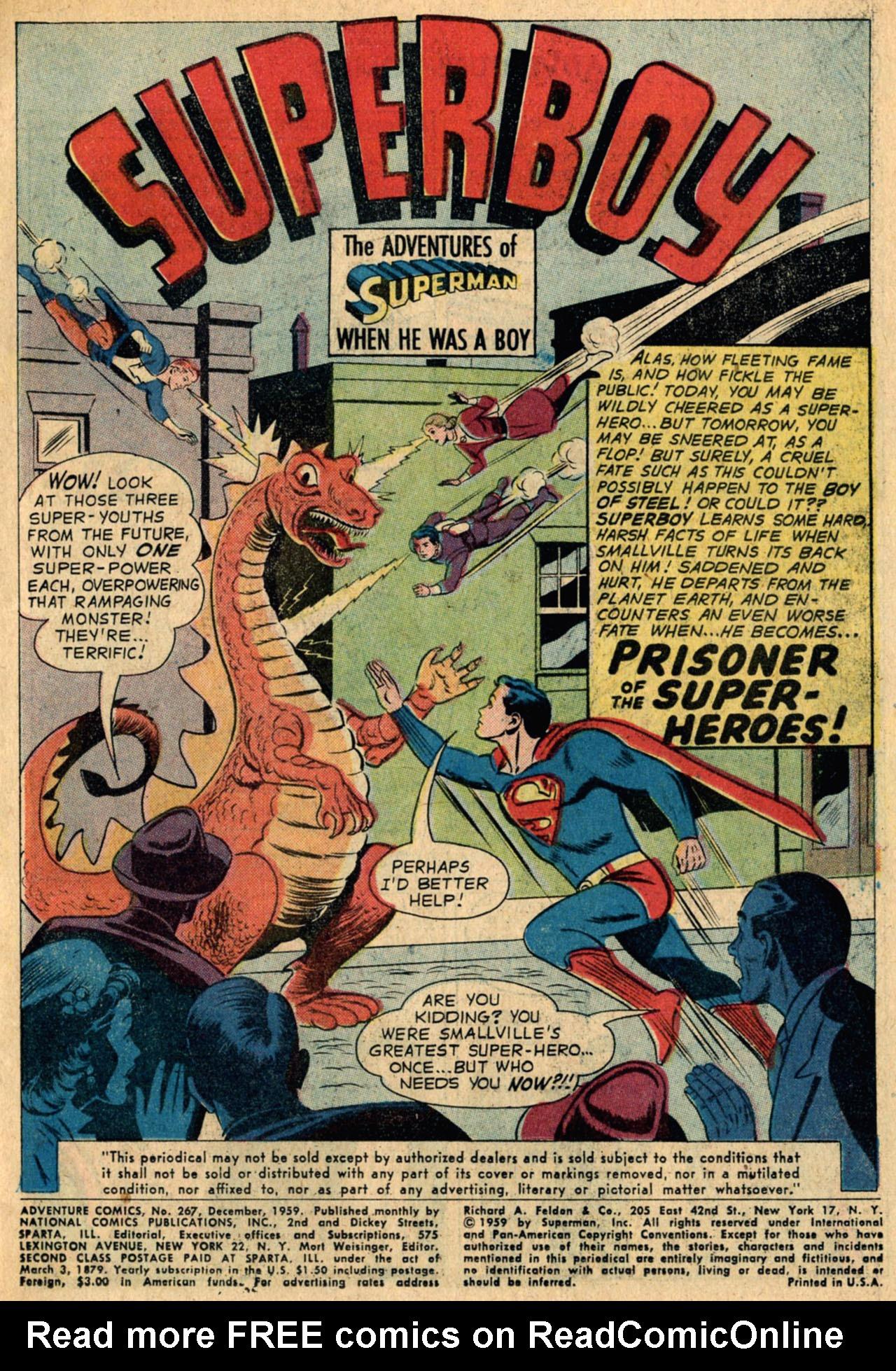 Read online Adventure Comics (1938) comic -  Issue #267 - 3
