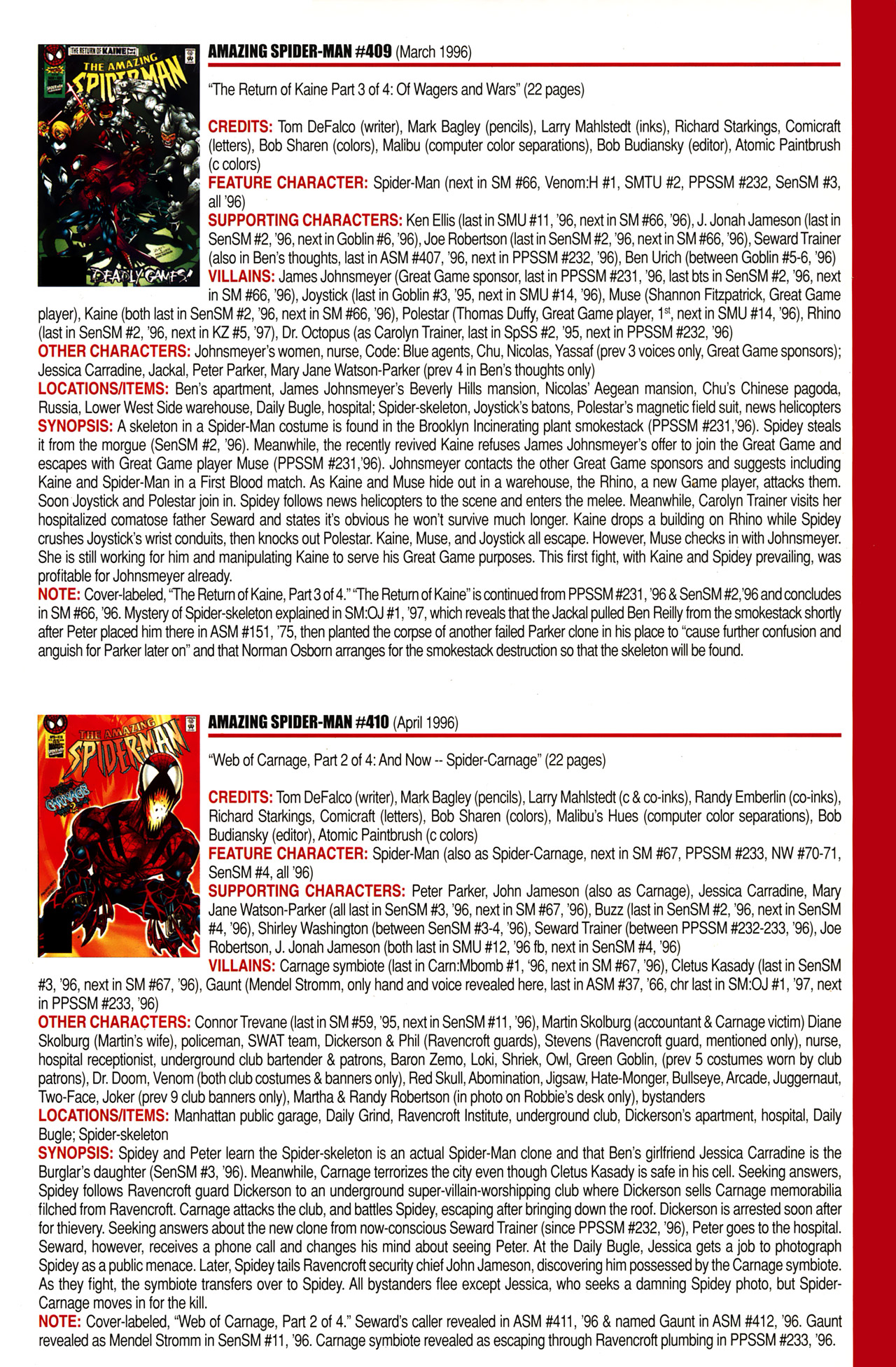 Read online Official Index to the Marvel Universe comic -  Issue #10 - 9