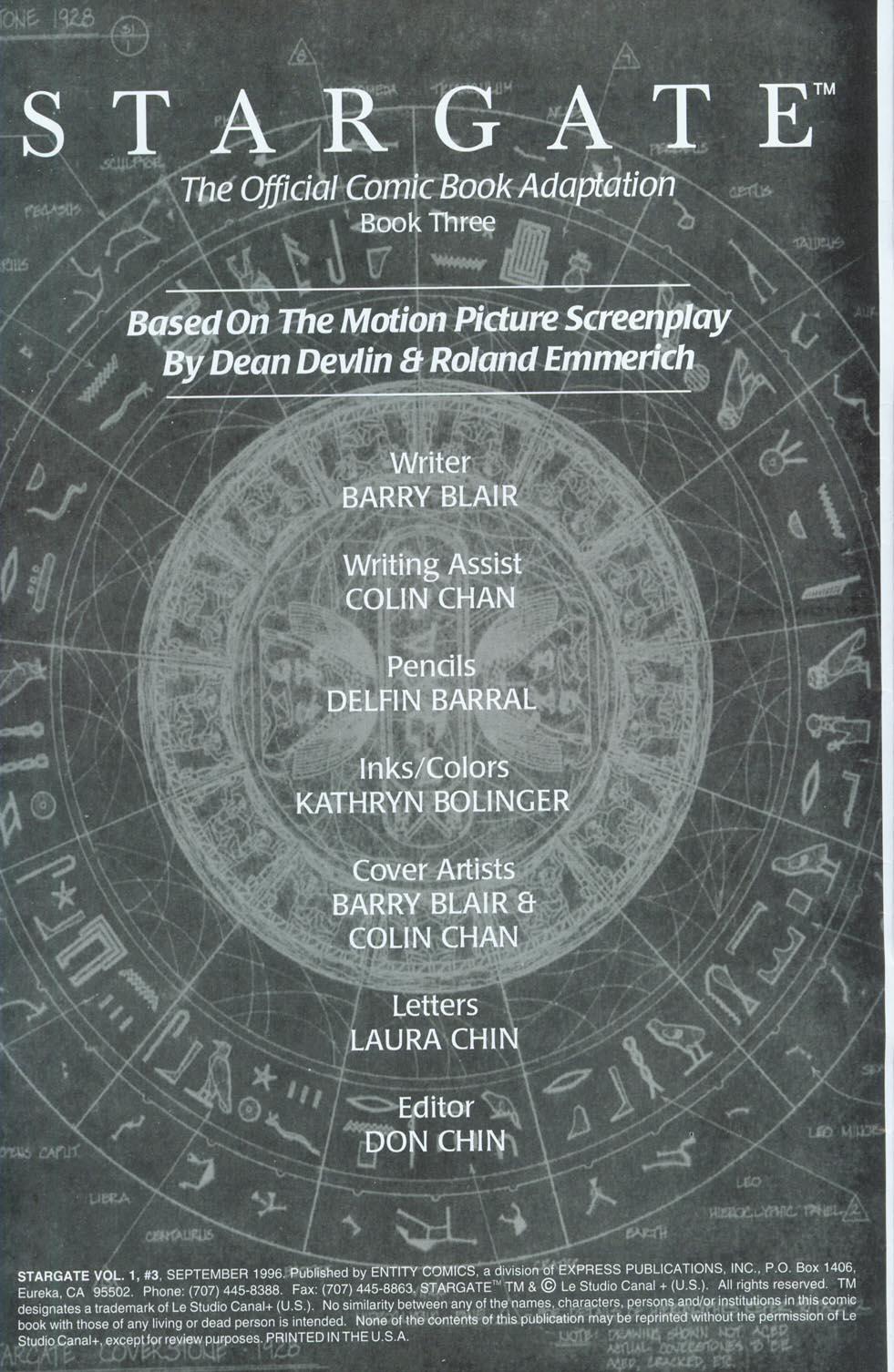 Read online Stargate comic -  Issue #3 - 2