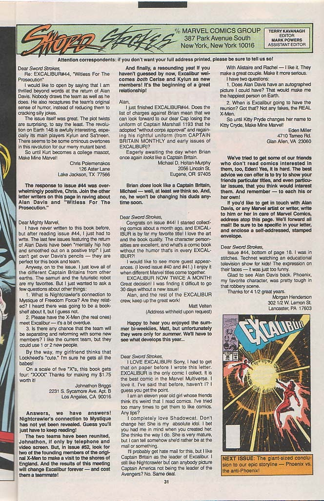 Excalibur (1988) issue 49 - Page 24