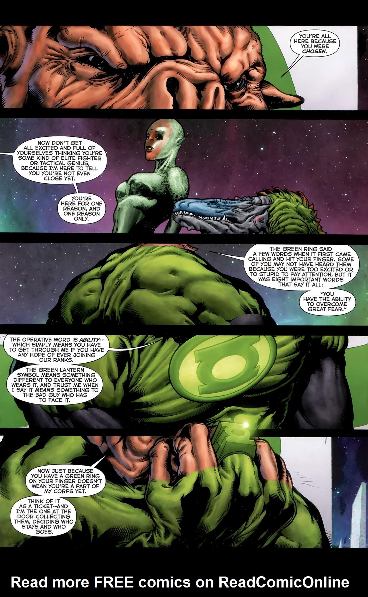 Green Lantern Movie Prequel: Kilowog Full Page 2