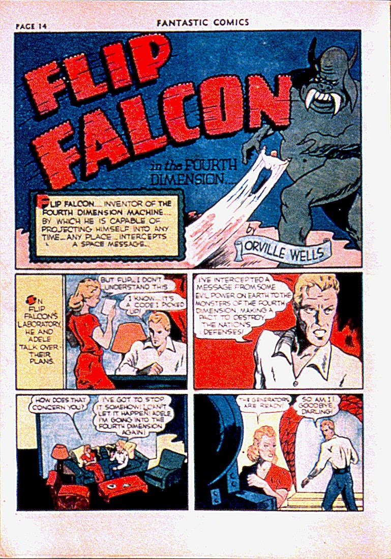 Read online Fantastic Comics comic -  Issue #13 - 17