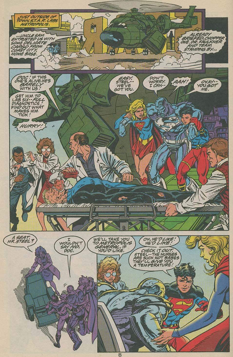 Read online Adventures of Superman (1987) comic -  Issue #505 - 9