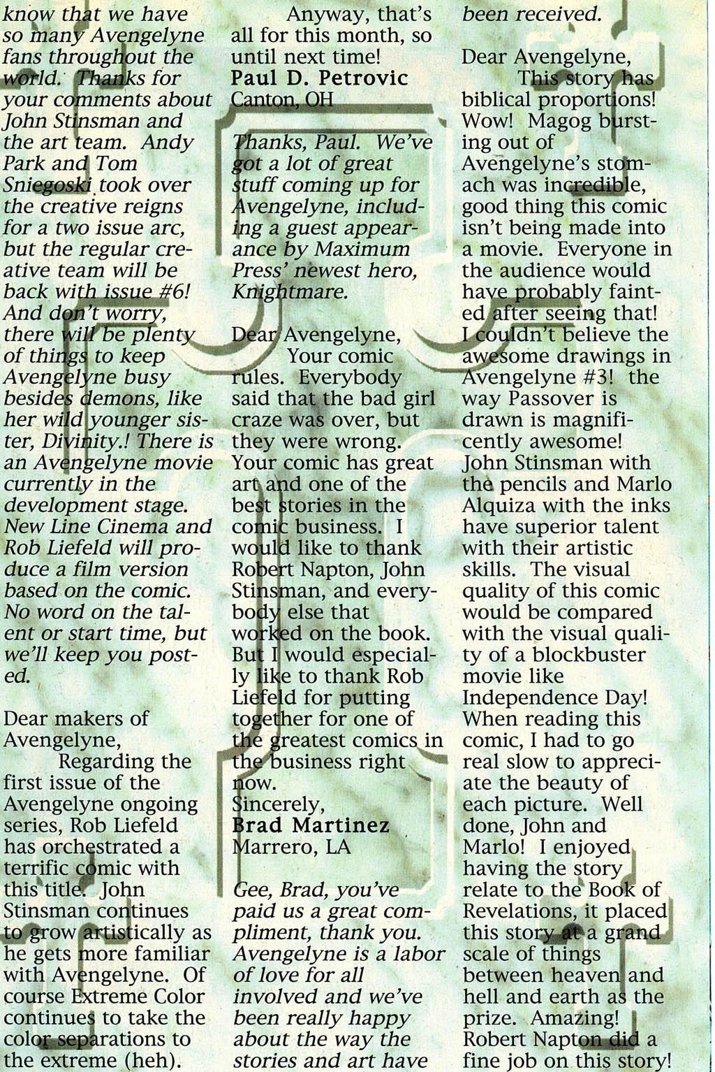Read online Avengelyne (1996) comic -  Issue #4 - 22