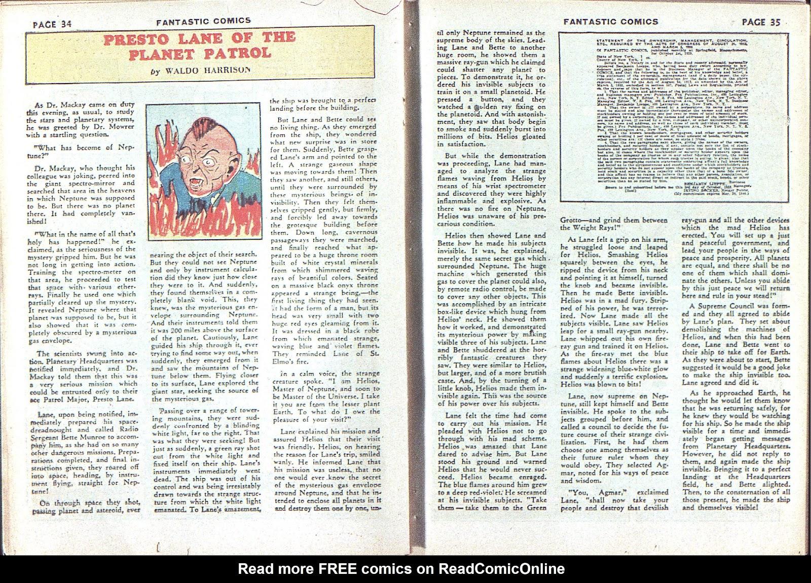 Read online Fantastic Comics comic -  Issue #3 - 37