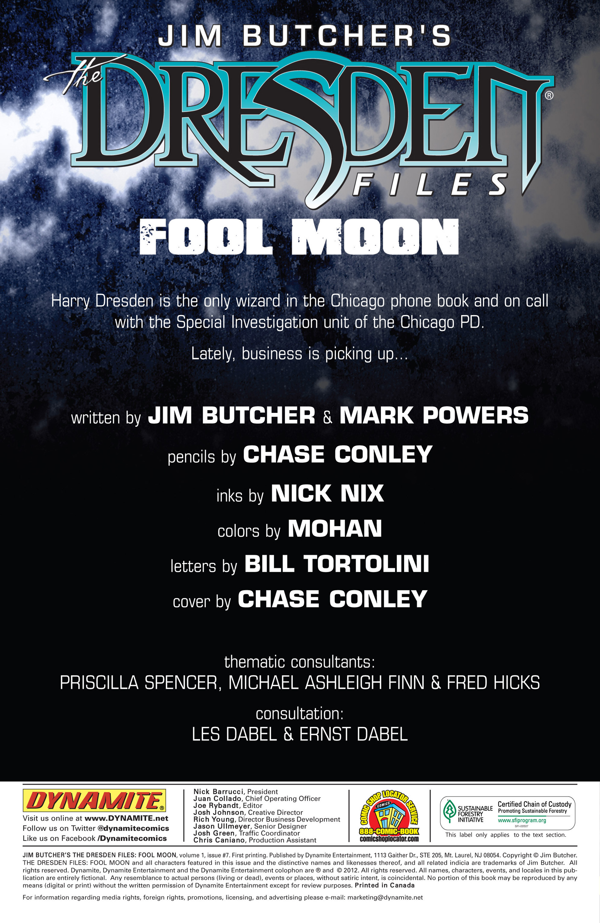Read online Jim Butcher's The Dresden Files: Fool Moon comic -  Issue #7 - 2