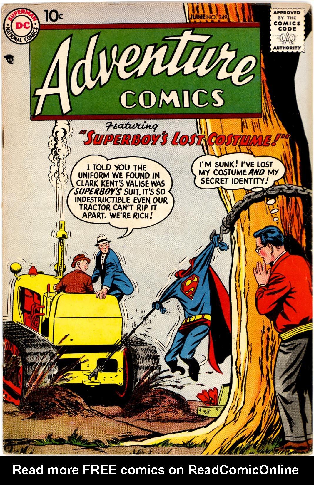 Read online Adventure Comics (1938) comic -  Issue #249 - 1