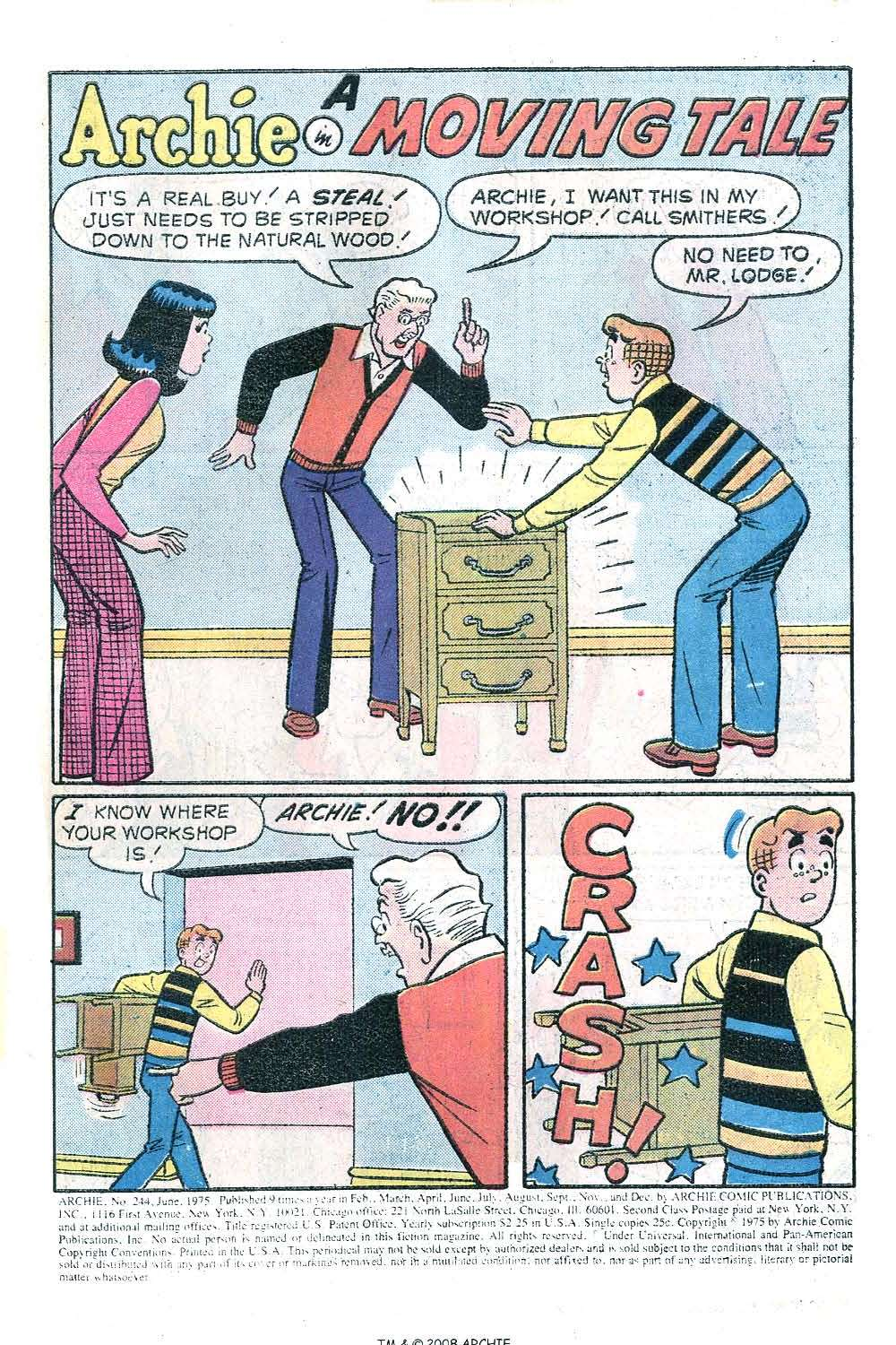 Read online Archie (1960) comic -  Issue #244 - 3