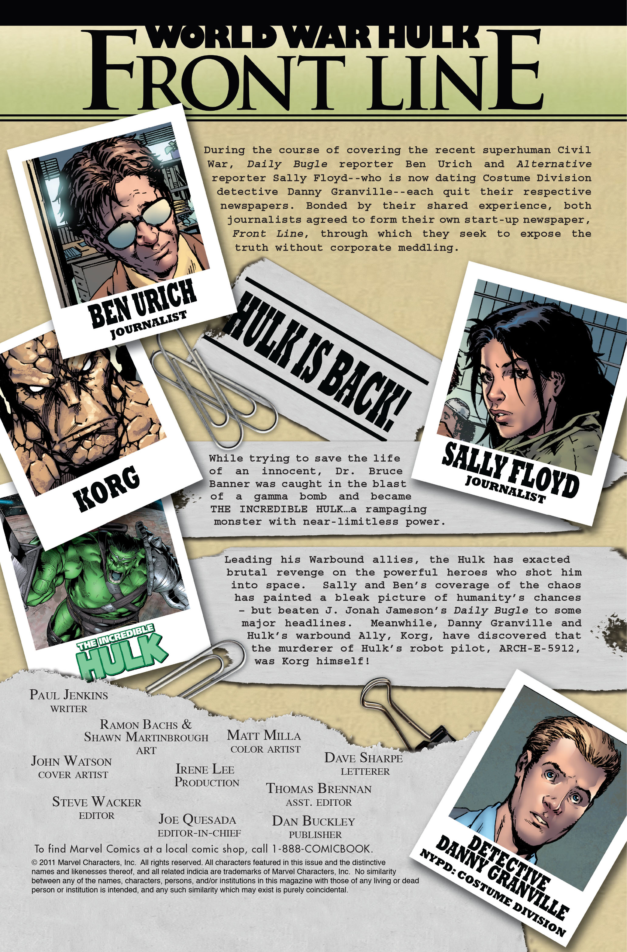 Read online World War Hulk: Front Line comic -  Issue #5 - 2
