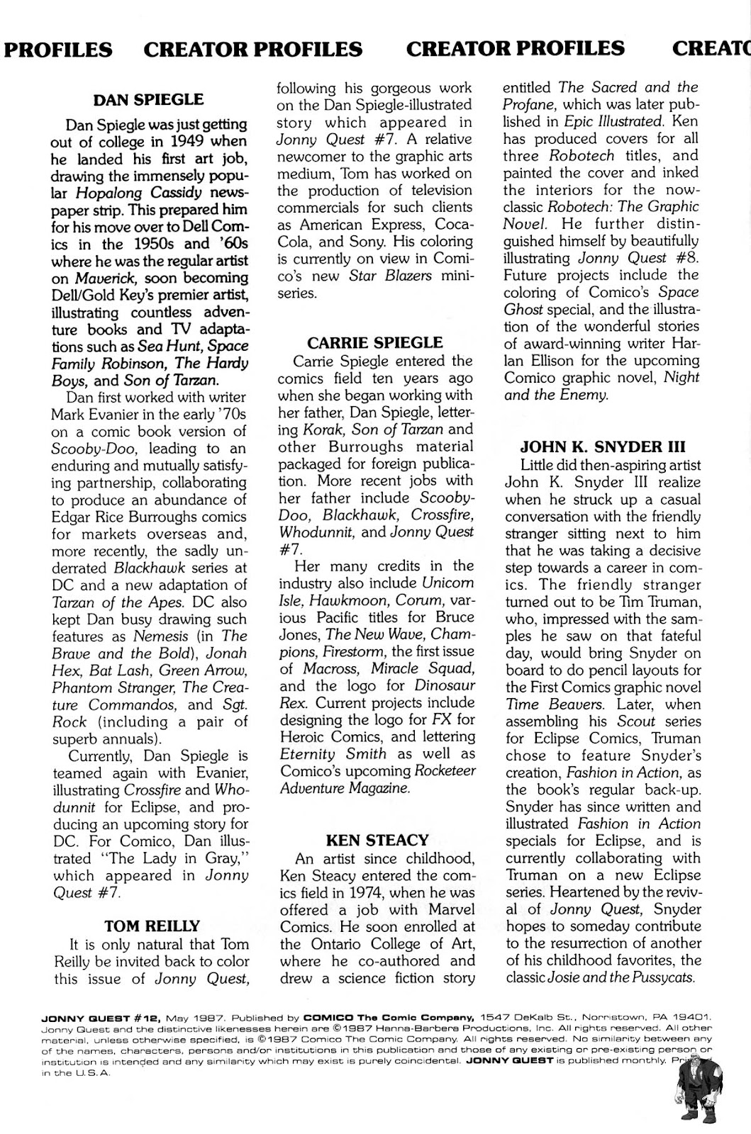 Jonny Quest (1986) issue 12 - Page 3