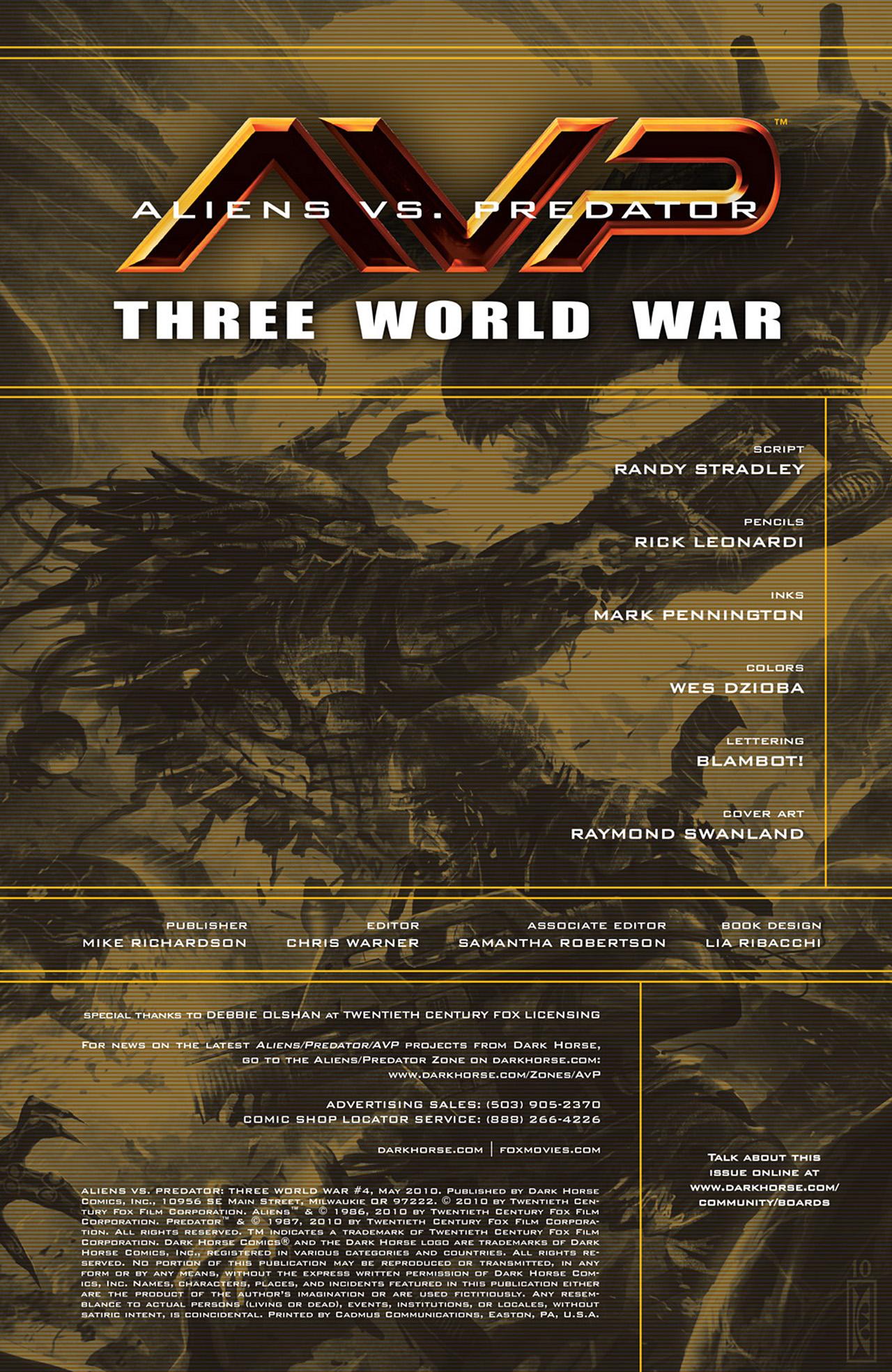 Read online Aliens vs. Predator: Three World War comic -  Issue #4 - 2