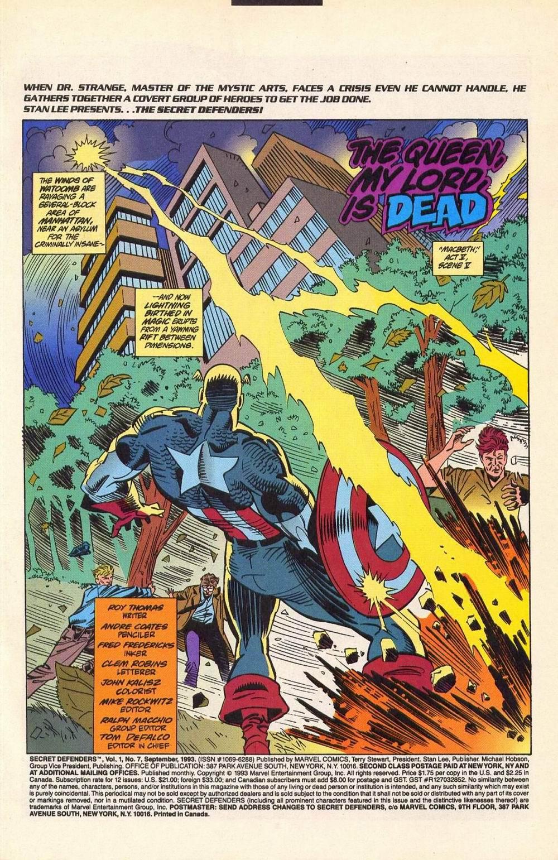 Read online Secret Defenders comic -  Issue #7 - 2
