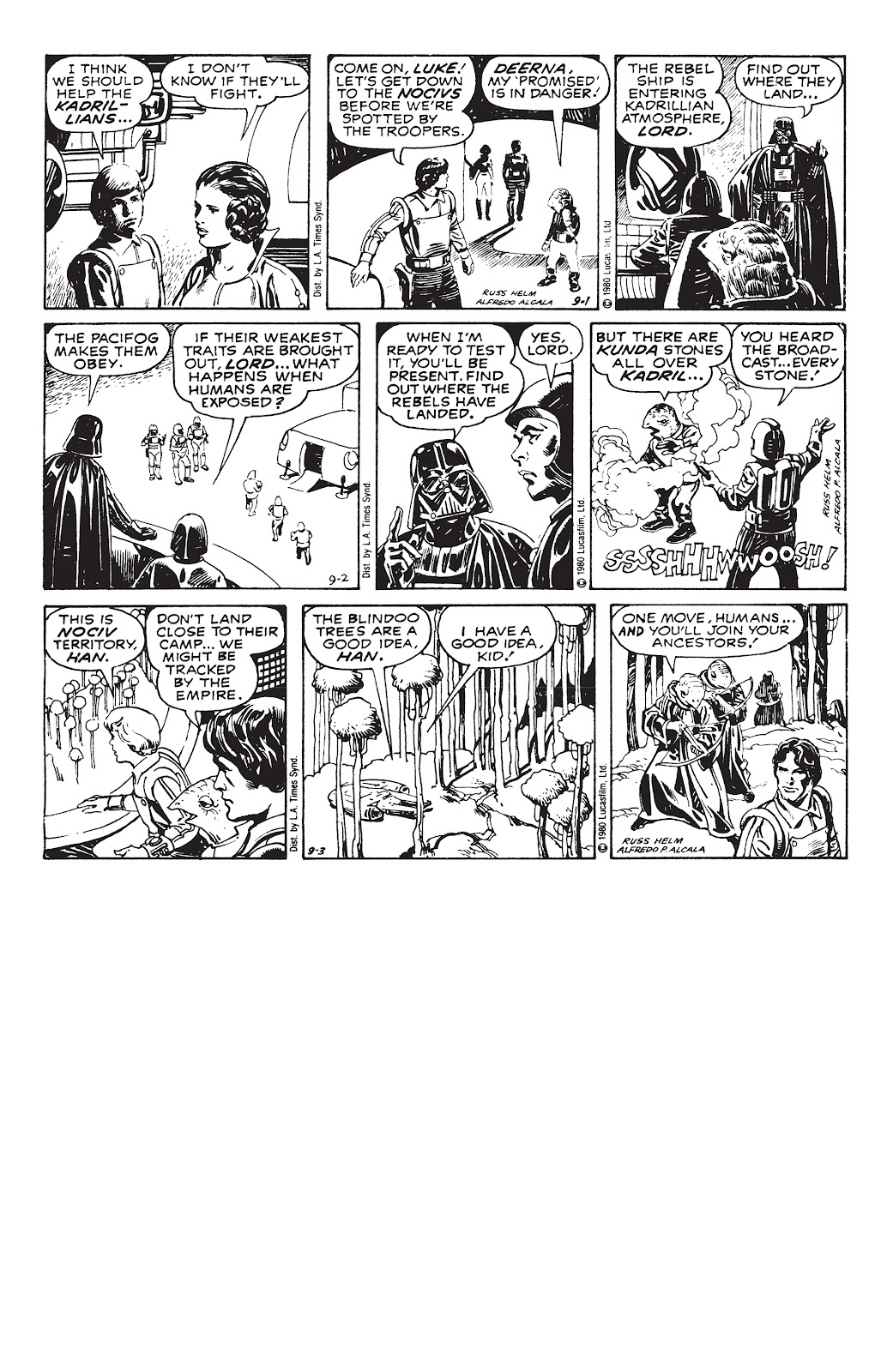 Read online Star Wars Legends: The Newspaper Strips - Epic Collection comic -  Issue # TPB (Part 3) - 90