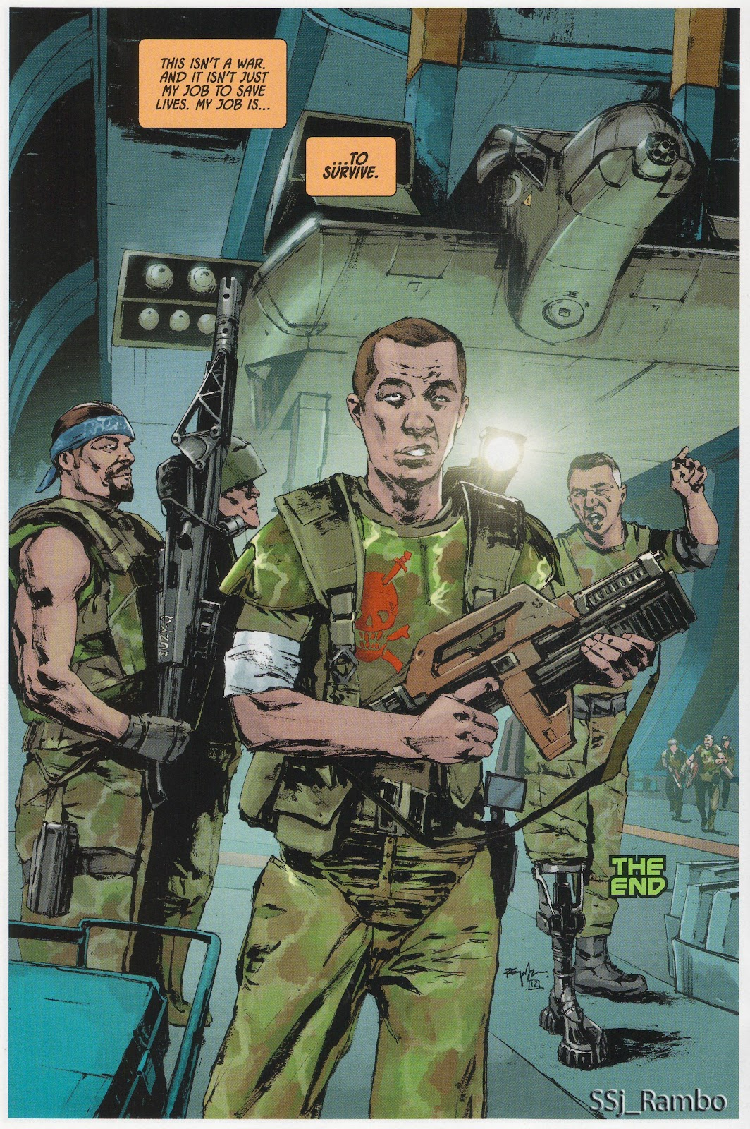 Read online Aliens: Colonial Marines - No Man Left Behind comic -  Issue # Full - 13