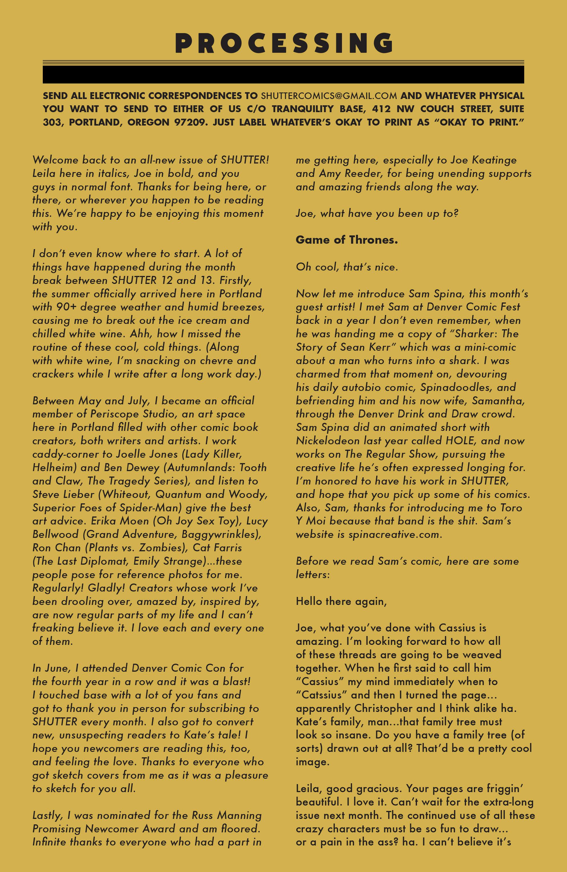Read online Shutter comic -  Issue #13 - 20
