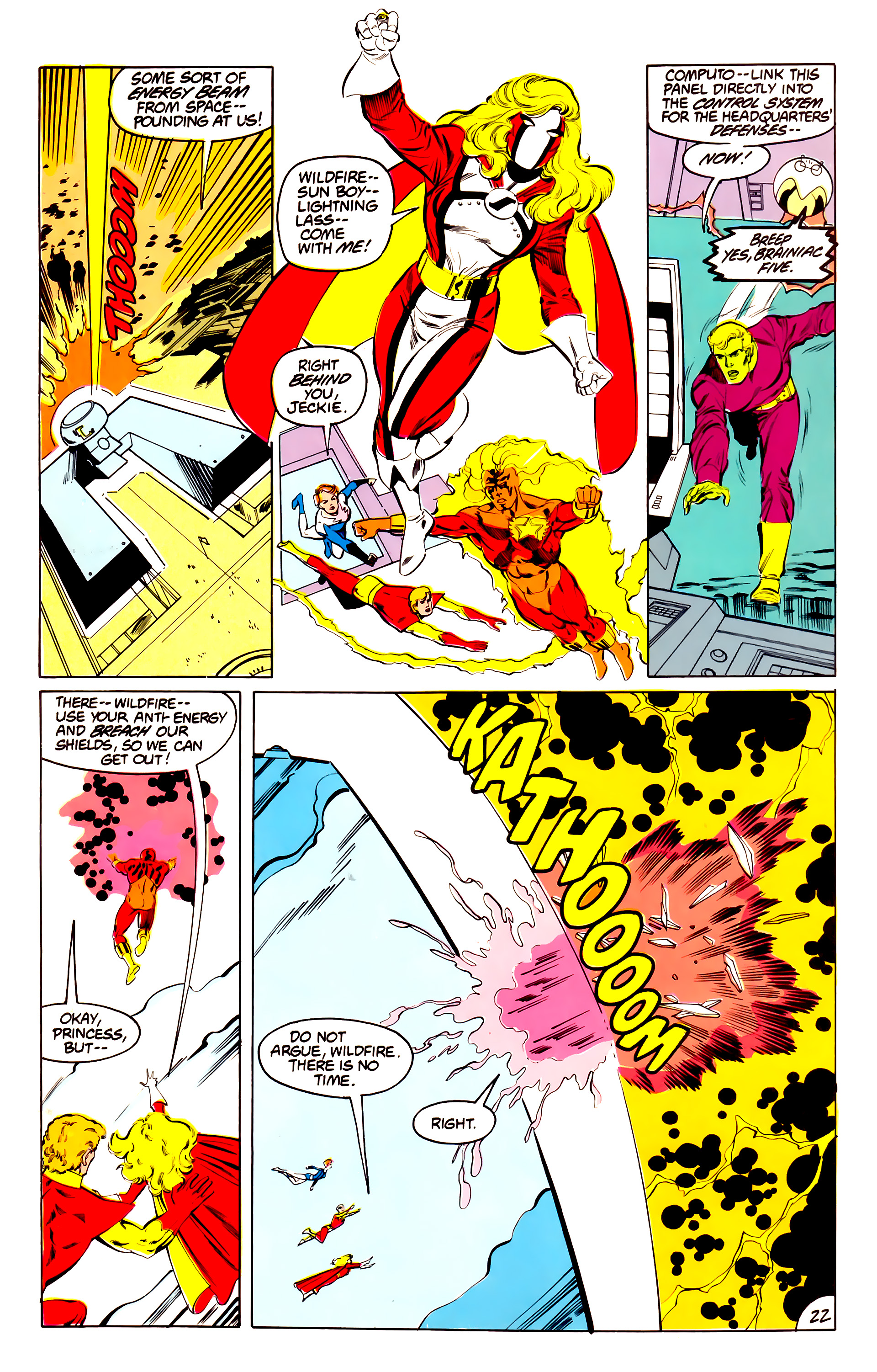 Legion of Super-Heroes (1984) 40 Page 22