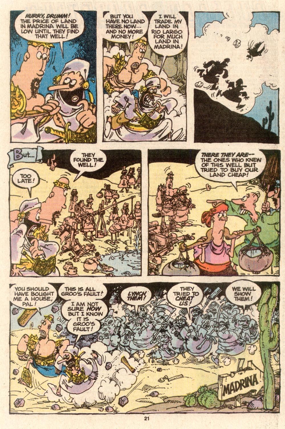 Read online Sergio Aragonés Groo the Wanderer comic -  Issue #63 - 21