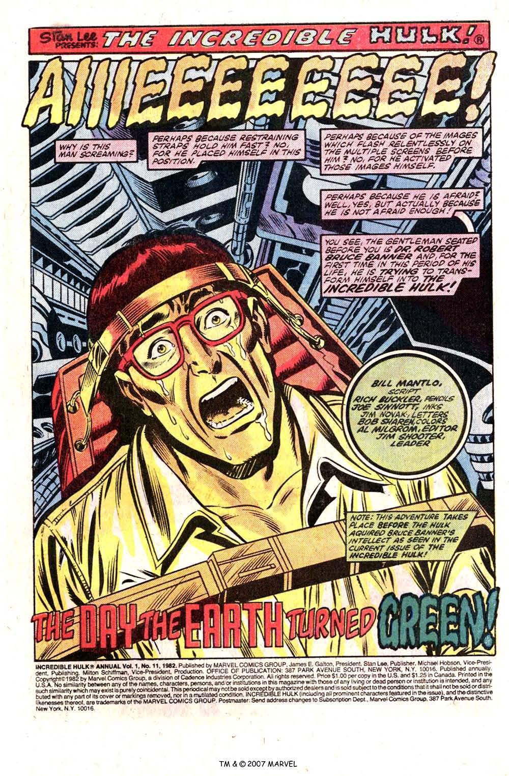 Comic The Incredible Hulk Annual issue 11