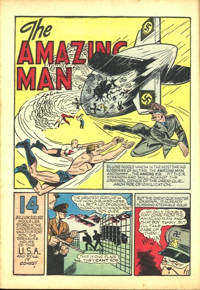 Read online Amazing Man Comics comic -  Issue #23 - 16