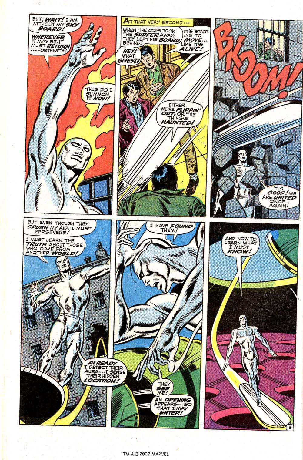 Read online Silver Surfer (1968) comic -  Issue #2 - 22